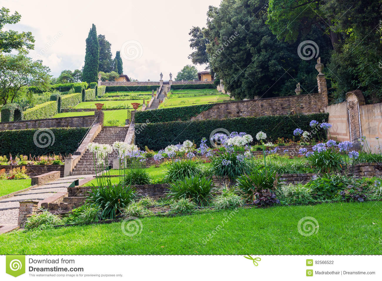 Giardino Bardini In Florence Italy Editorial Photography Image Of