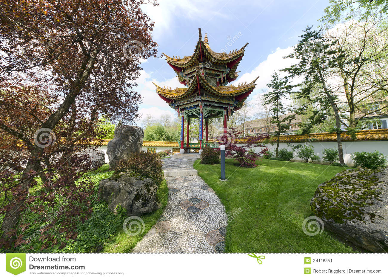 Giardino cinese a zurigo svizzera immagine stock for Giardino cinese