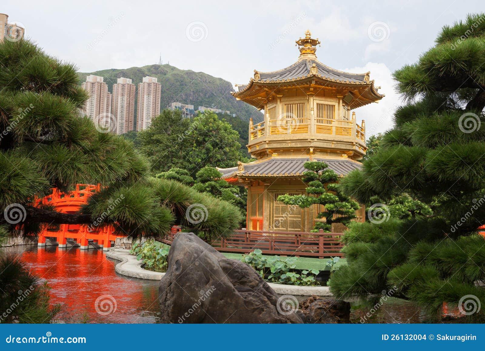 Giardino classico cinese immagini stock immagine 26132004 for Giardino cinese