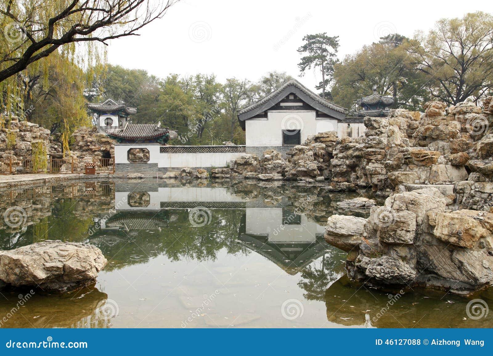 Giardino classico cinese fotografia stock immagine 46127088 for Giardino cinese