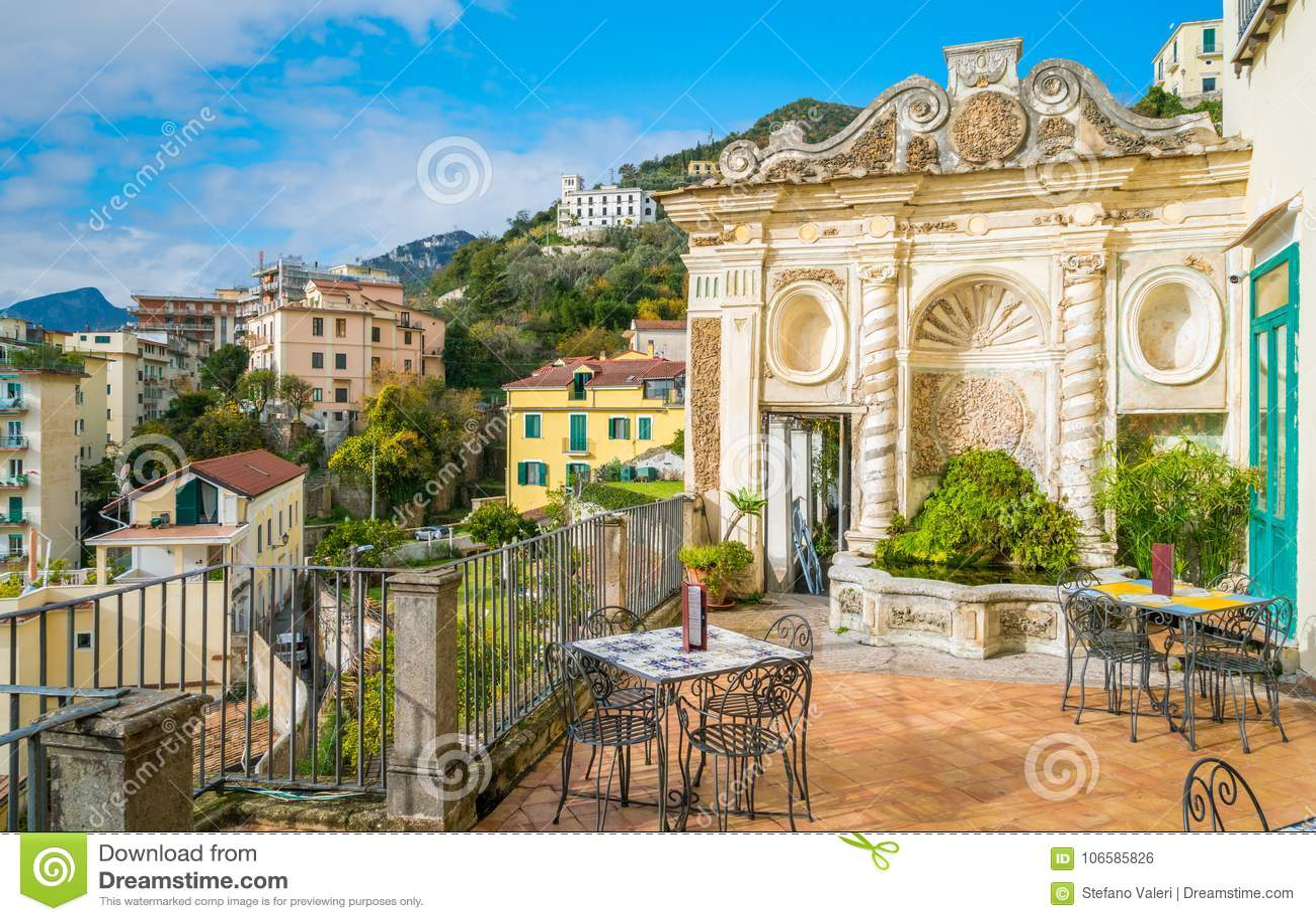 Giardino del ` s di Minerva in Salerno, campania, Italia