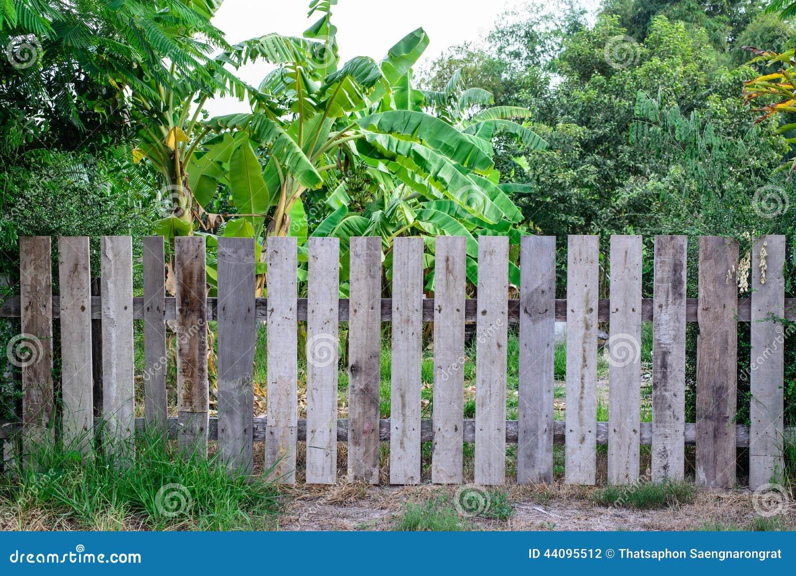 Staccionata Bianca In Legno giardino di legno della chiusura fotografia stock - immagine
