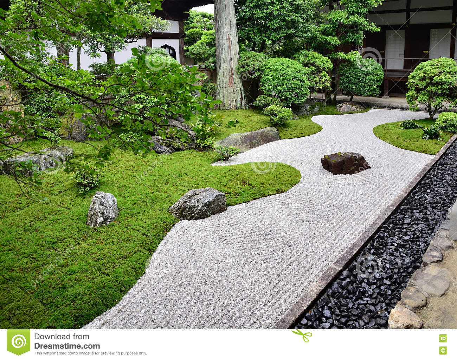 Rocce In Giardino.Giardino Di Rocce Del Tempio Di Zen Kyoto Giappone