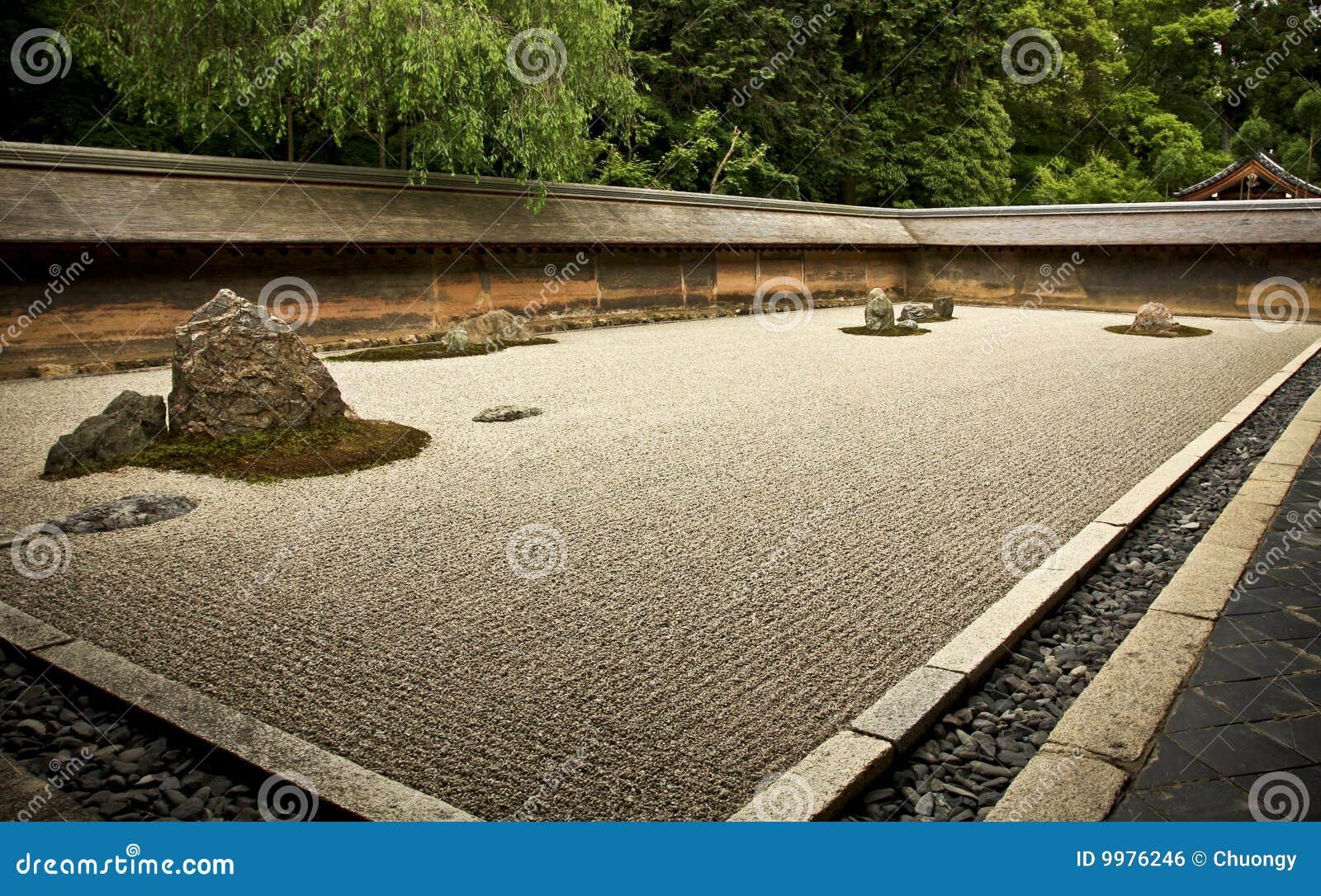 Giardino Di Roccia Ryoanji Kyoto Giappone Immagine