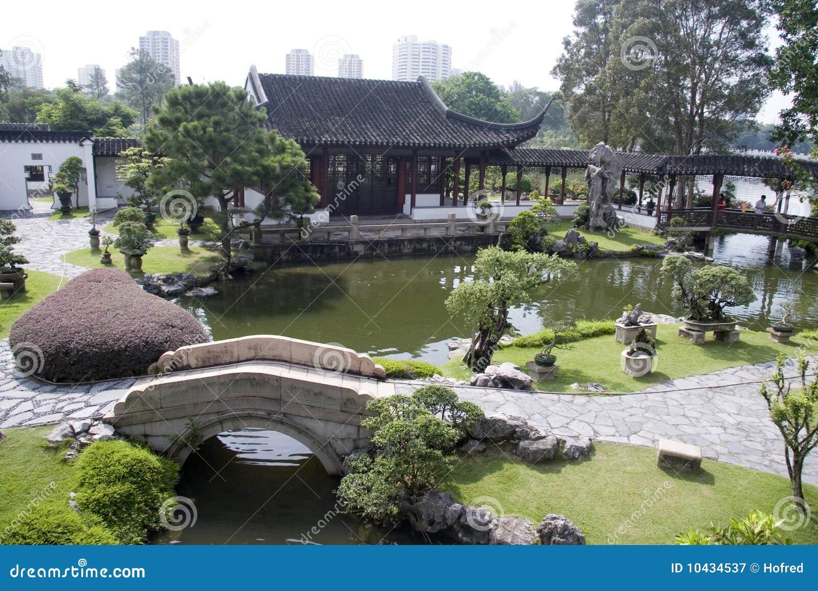 Giardino di stile cinese fotografia stock libera da for Giardino cinese