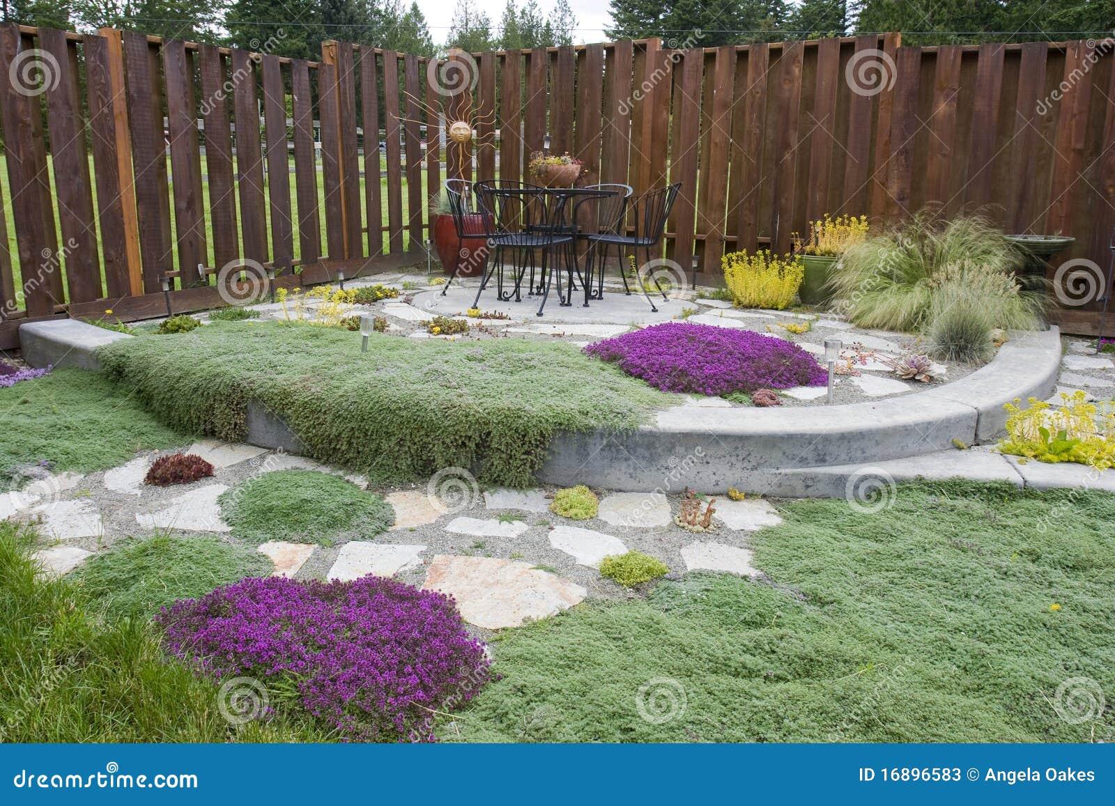 giardino esterno del patio immagine stock immagine di