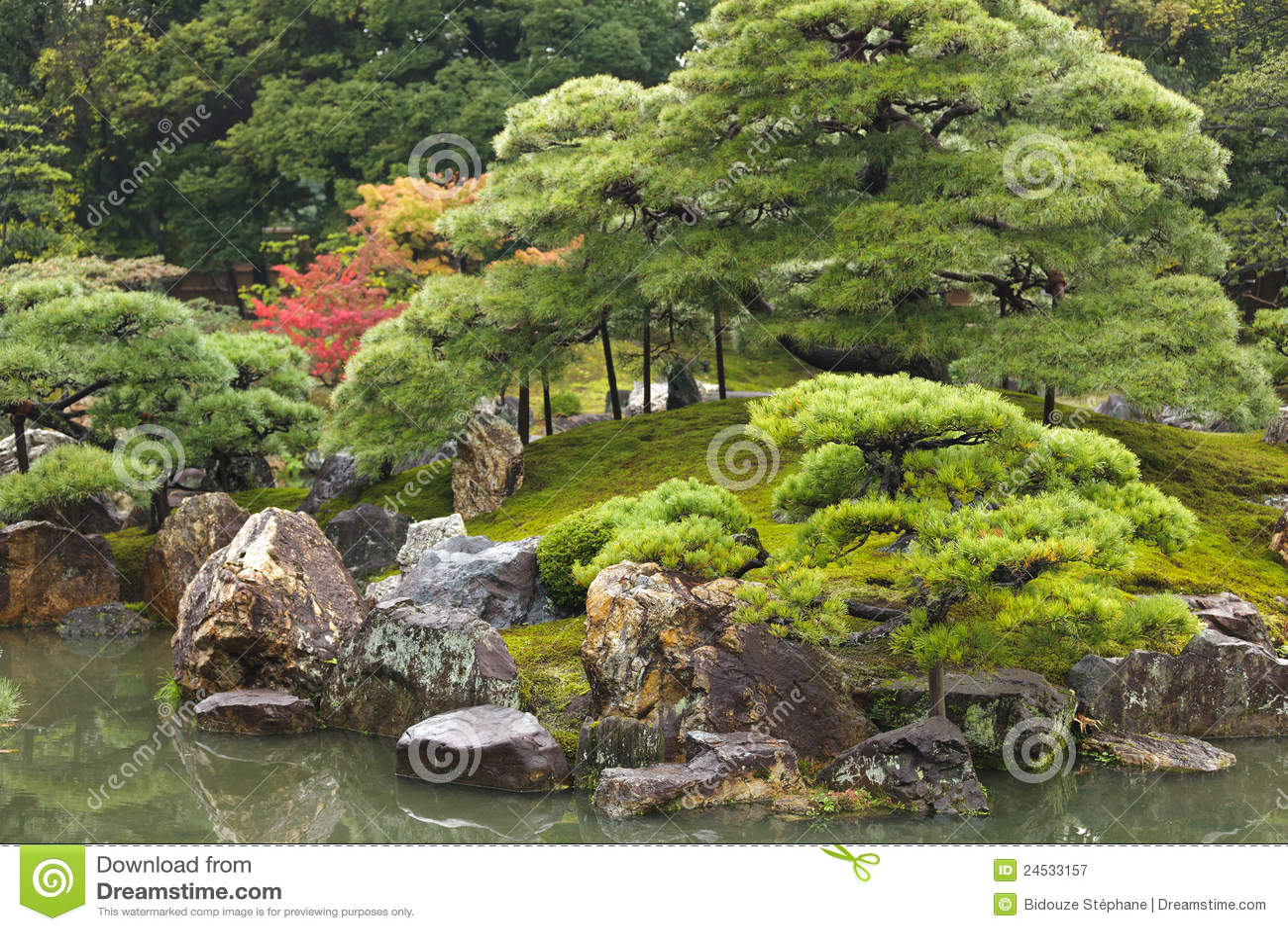 Giardino giapponese di zen fotografia stock libera da for Il giardino di zen