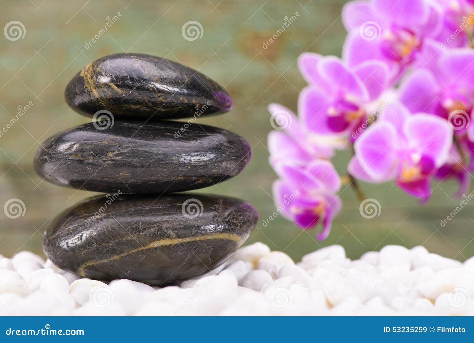 Giardino giapponese di zen con i feng shui immagine stock - Giardino feng shui ...