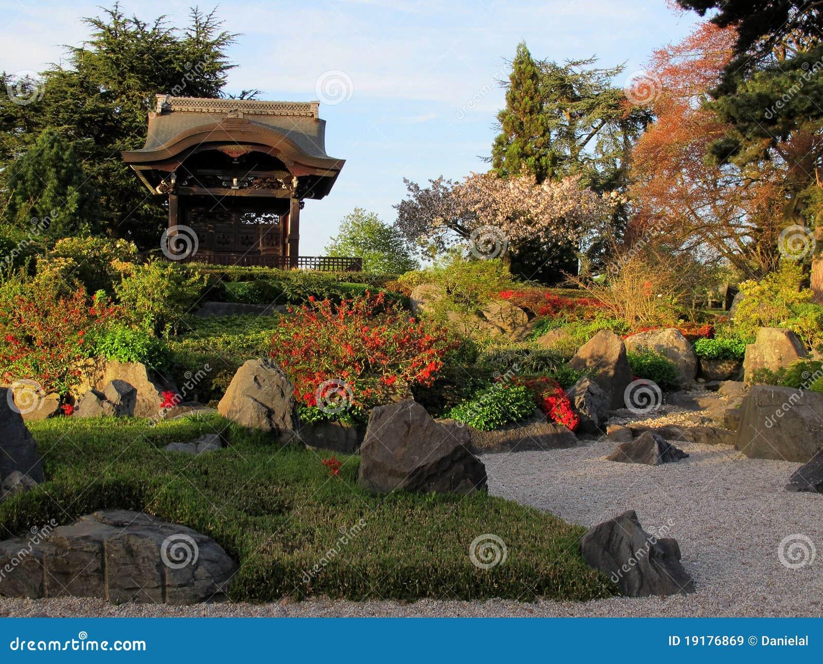 giardino giapponese a londra immagini stock libere da