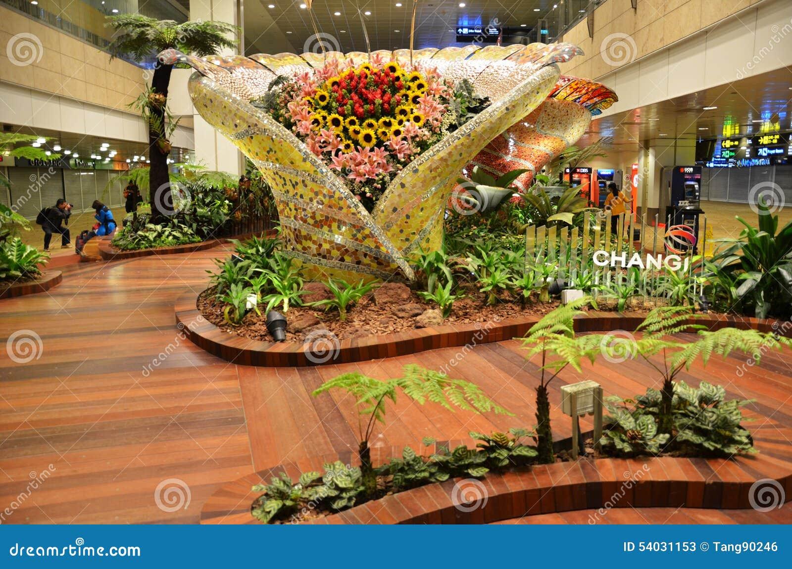 Giardino incantato all aeroporto internazionale di Changi, Singapore