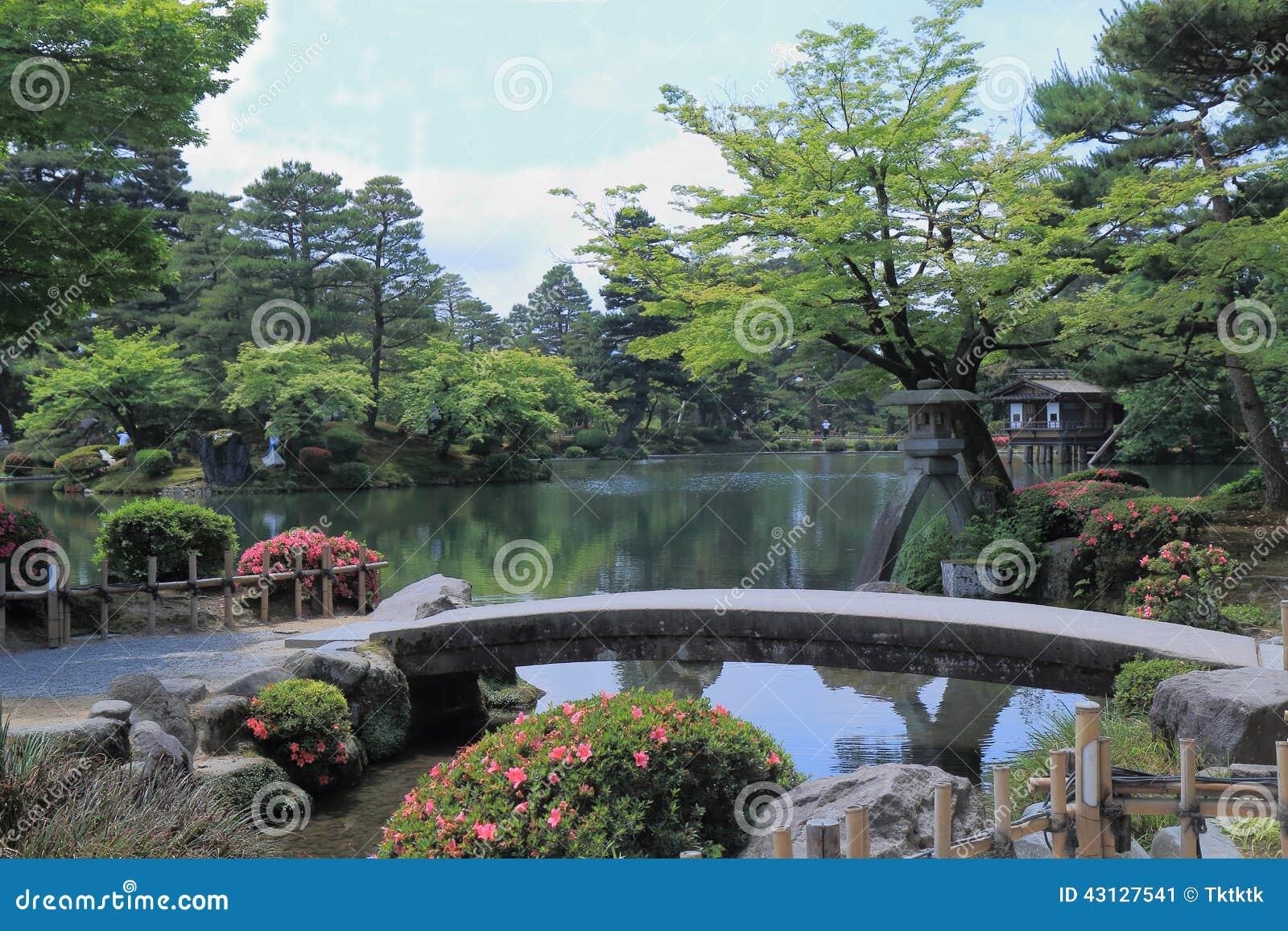 giardino kanazawa giappone di kenrokuen fotografia stock