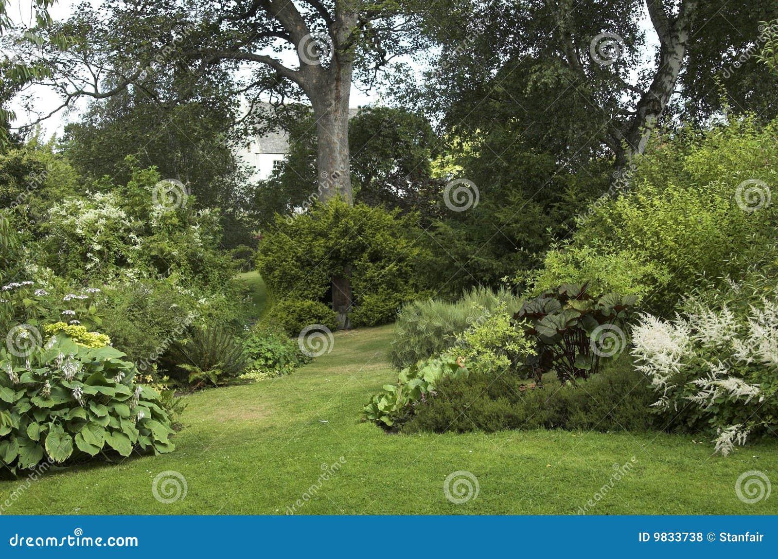 Giardino modific il terrenoare con gli arbusti degli alberi fotografia stock immagine di - Alberi nani da giardino ...