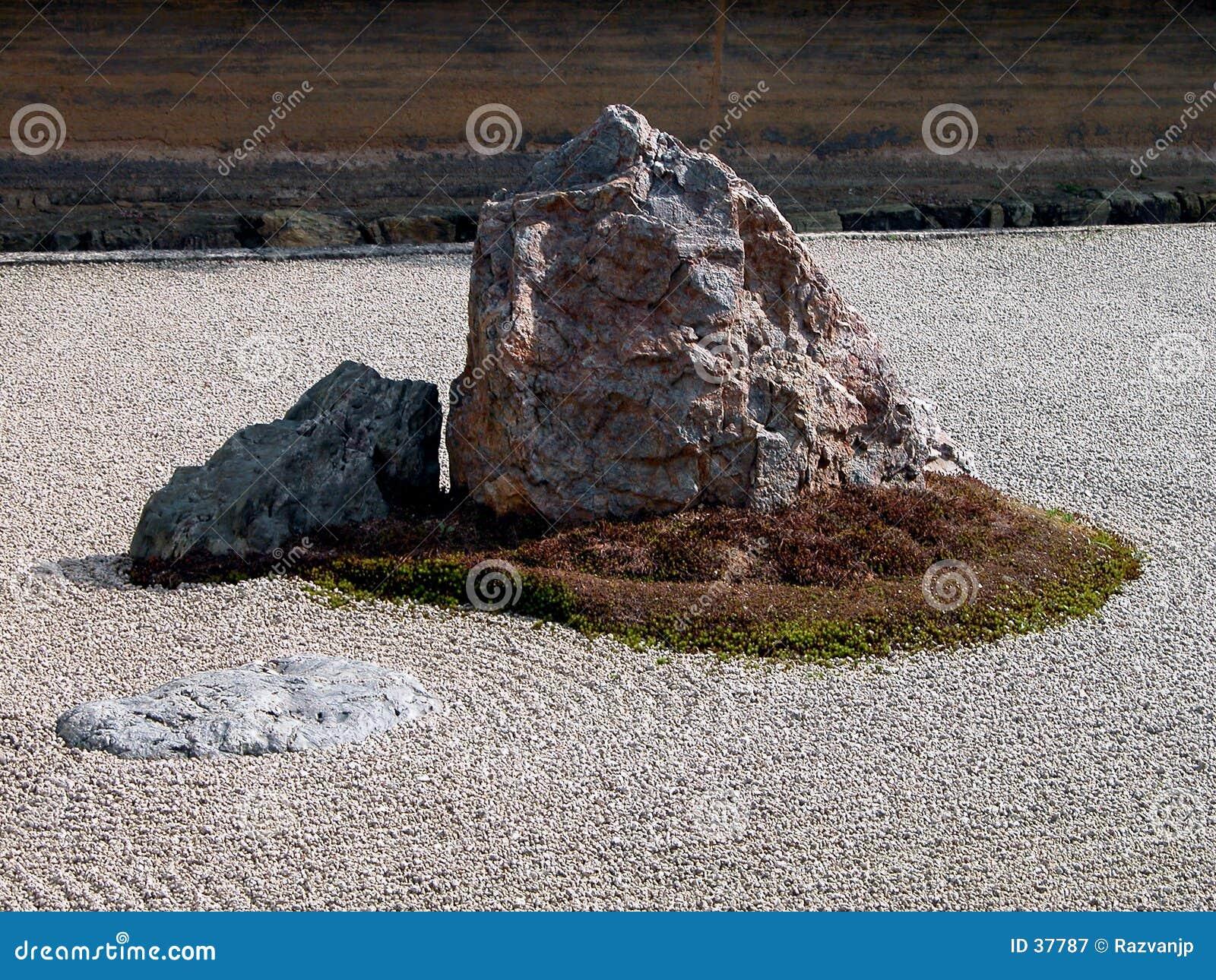 Giardino-particolare di zen