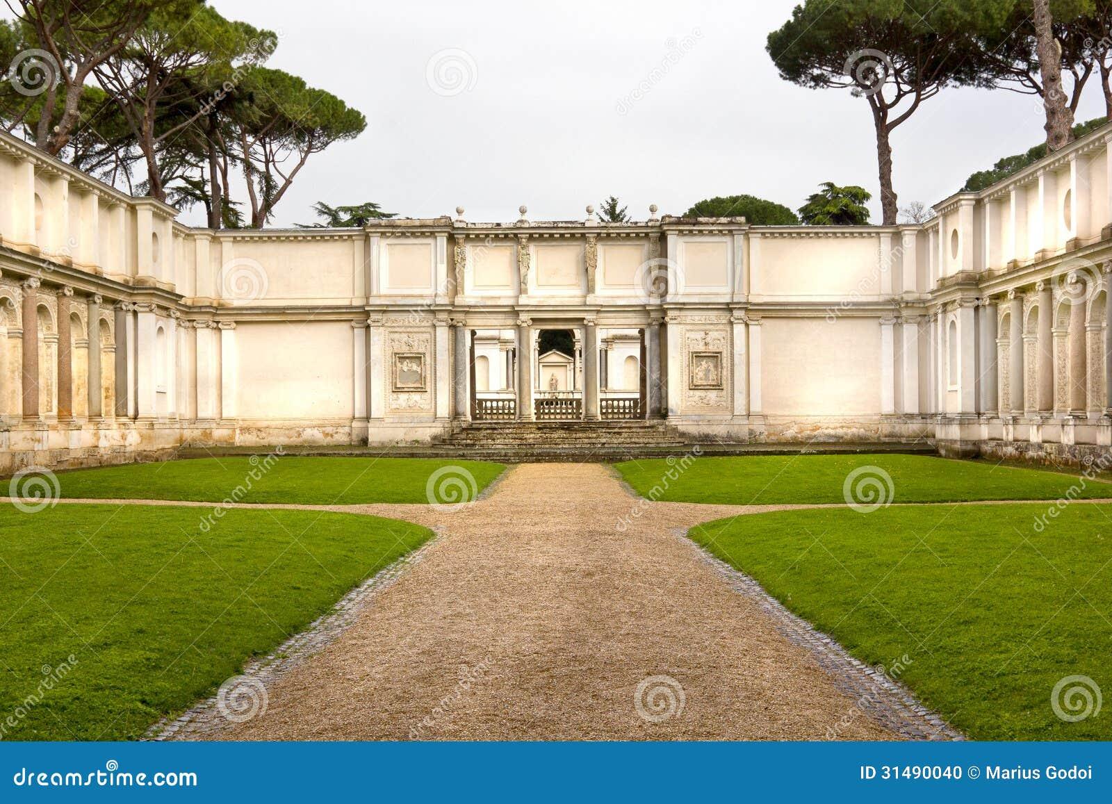 Giardino romano fotografia stock immagine di antico