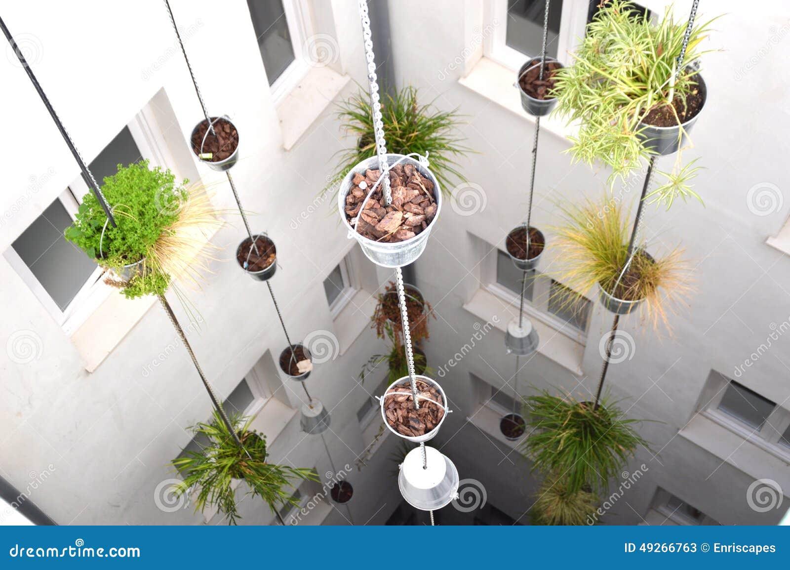 Giardino verticale immagine stock immagine di appendere for Giardino verticale