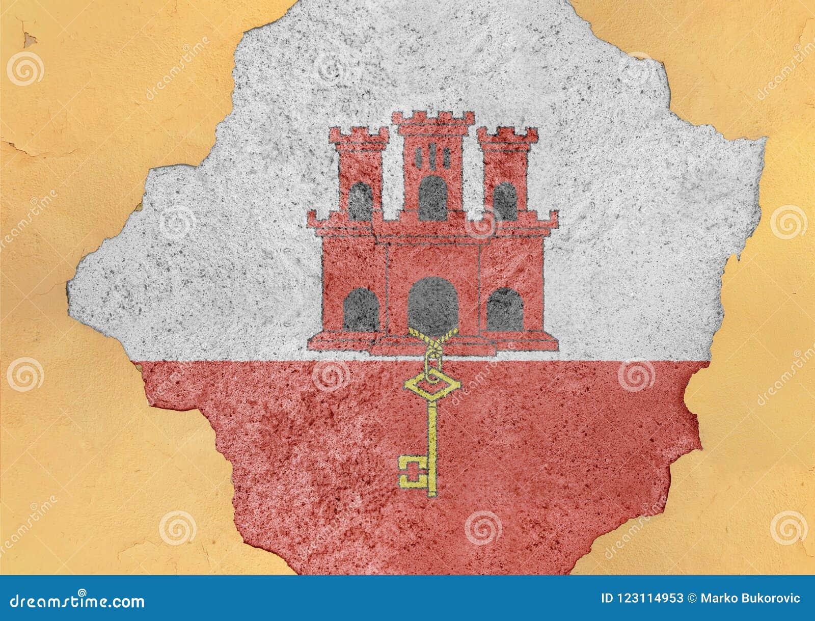 Gibraltar knäckte hålet och den brutna flaggan i stort konkret material