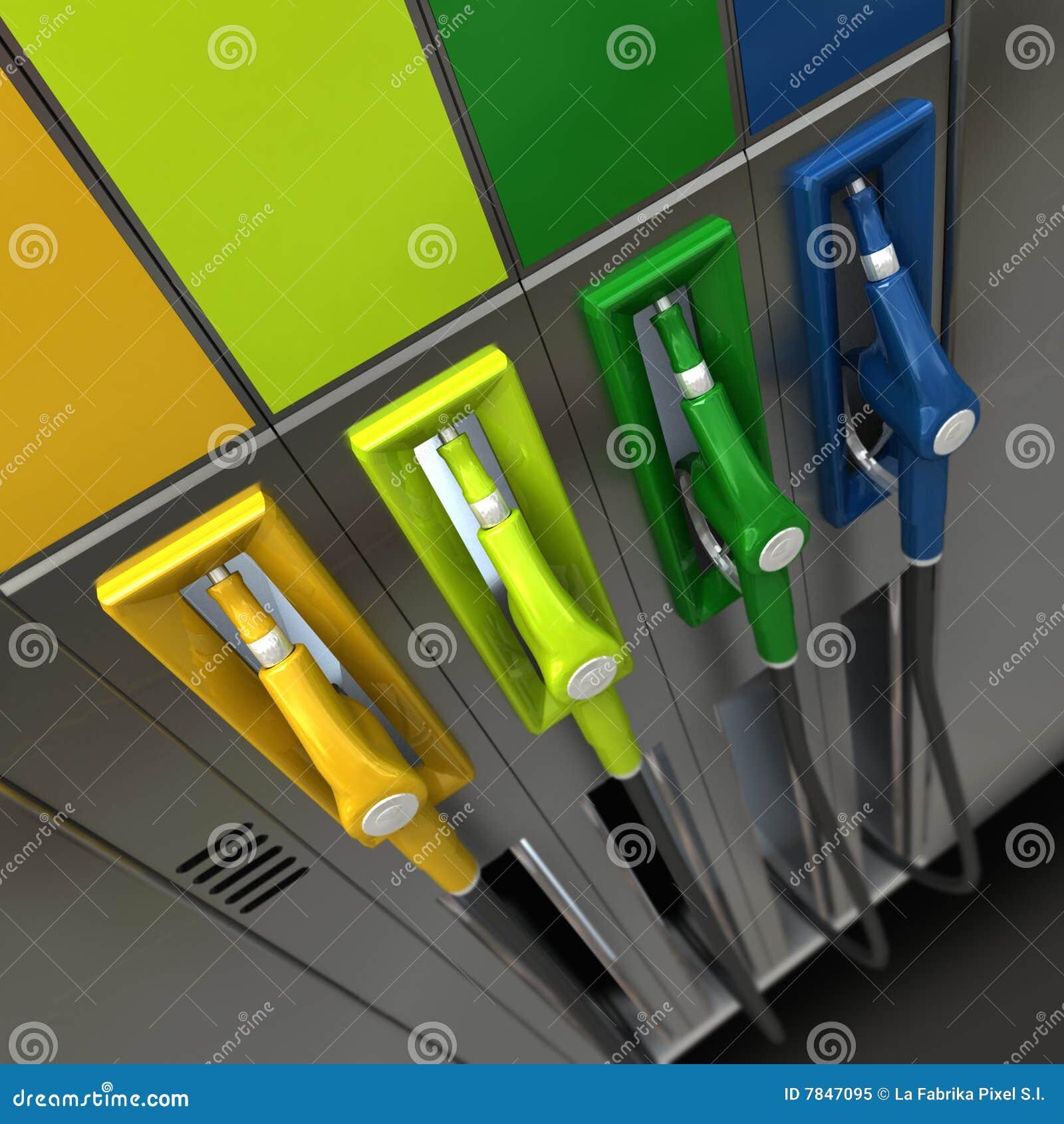 Gicleurs de gaz dans des couleurs lumineuses