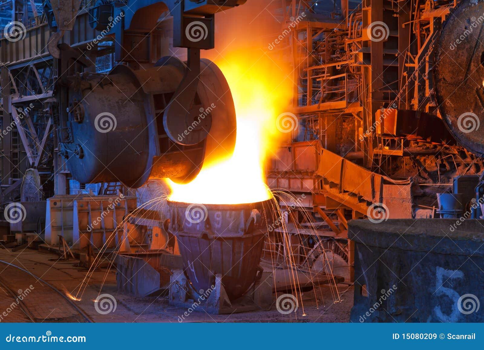 Gießen des flüssigen Metalls