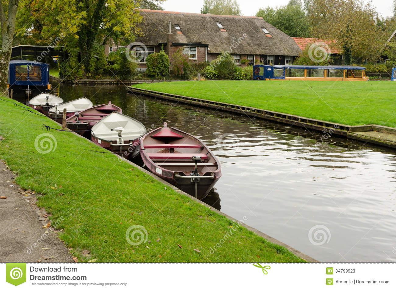 Tiny House Town Beautiful Seattle Tiny House: Giethoorn Stock Image. Image Of Horizontal, Green, Grass