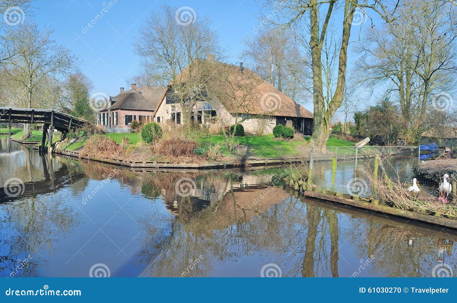 Giethoorn Karte.Giethoorn Ijsselmeer Netherlands Stock Photo Image Of Near
