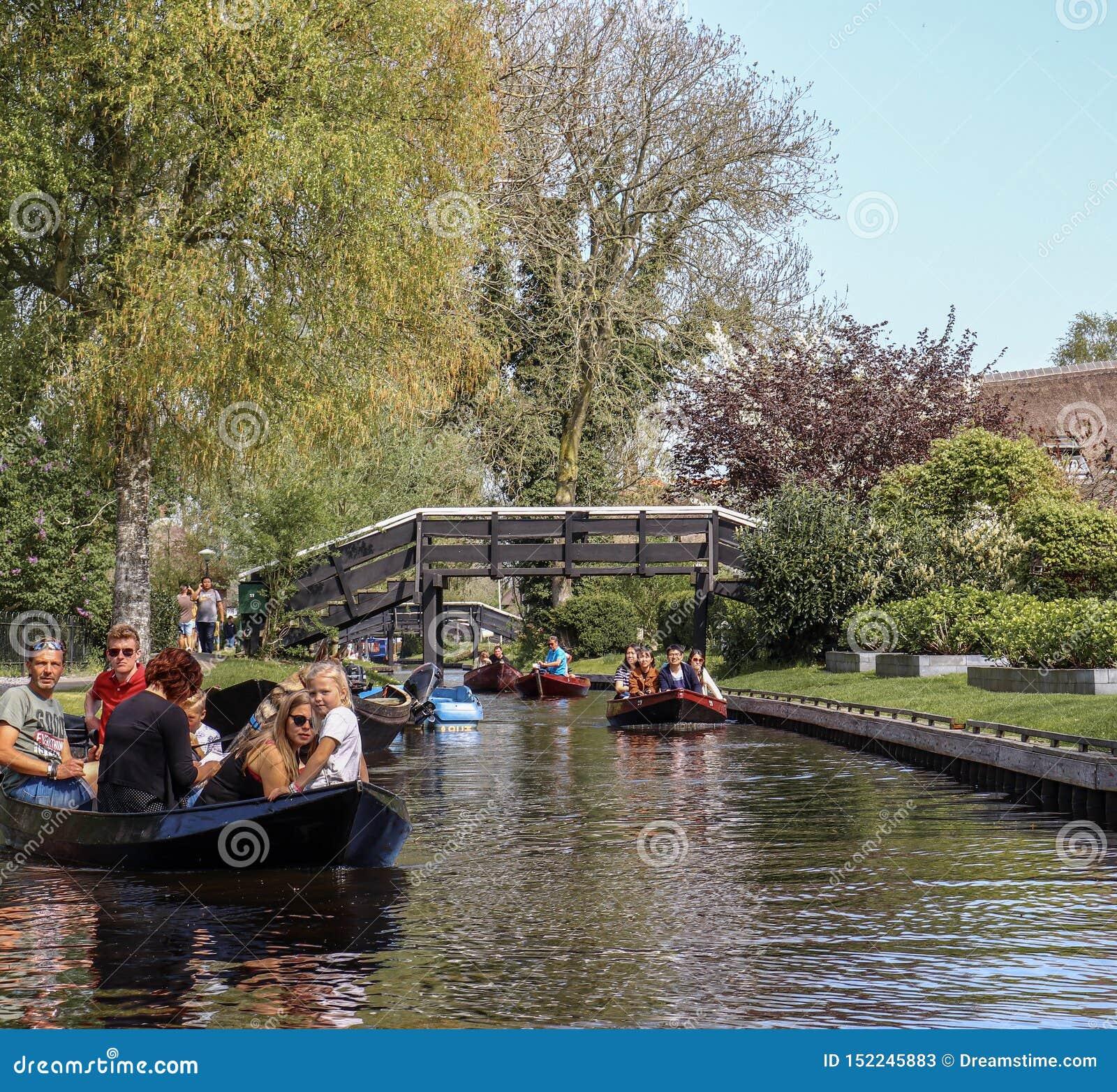 Giethoorn, Países Bajos - 22 de abril de 2019