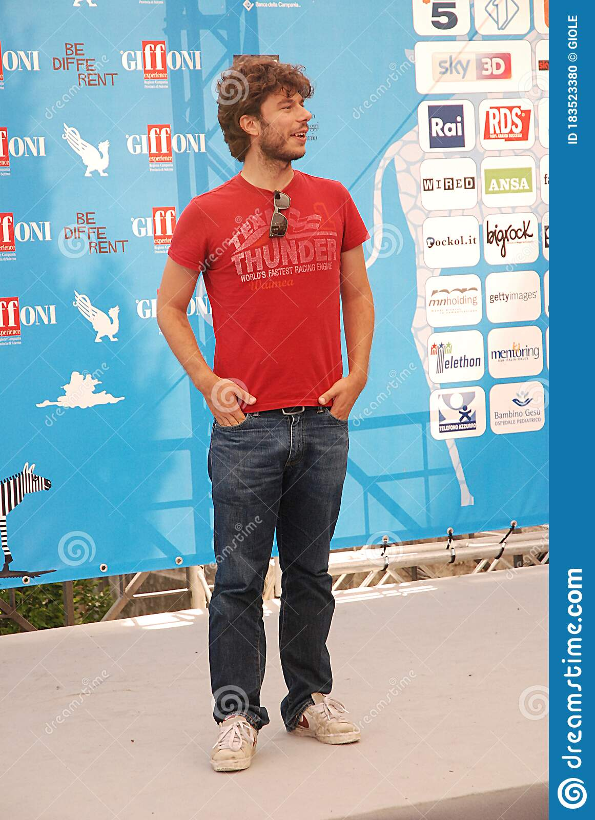Sydney Sibilia At Giffoni Film Festival 2014. Editorial Image - Image of  giffonifilmfestival2014, event: 183523380
