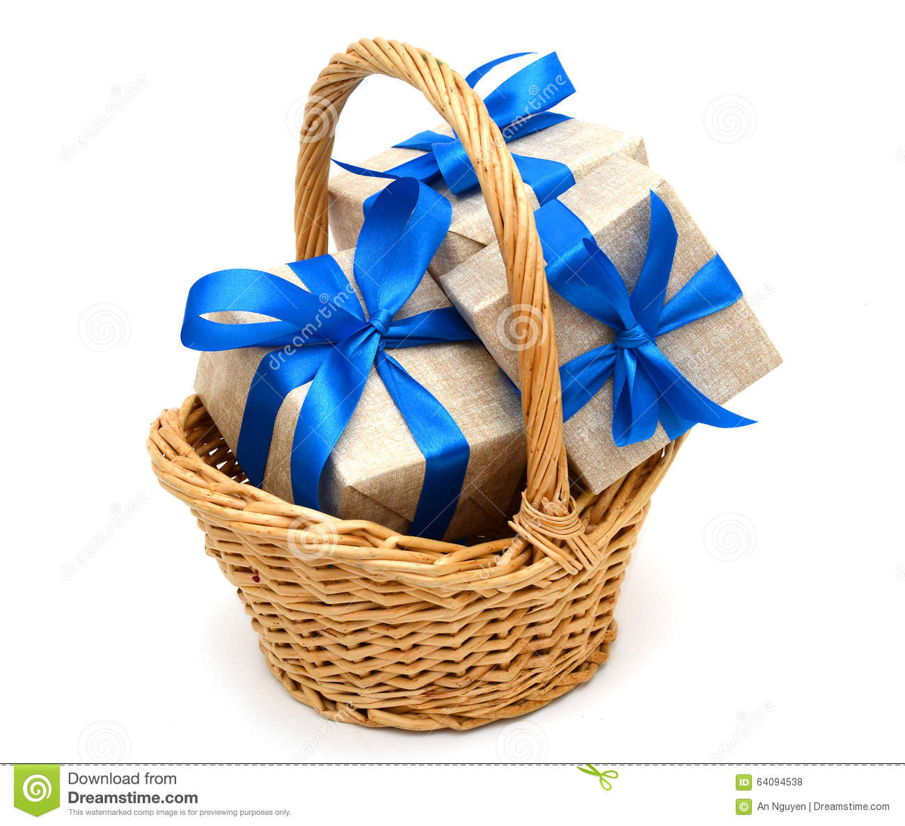 Gift in basket stock photo image of package greetings 64094538 gift in basket royalty free stock photo negle Image collections