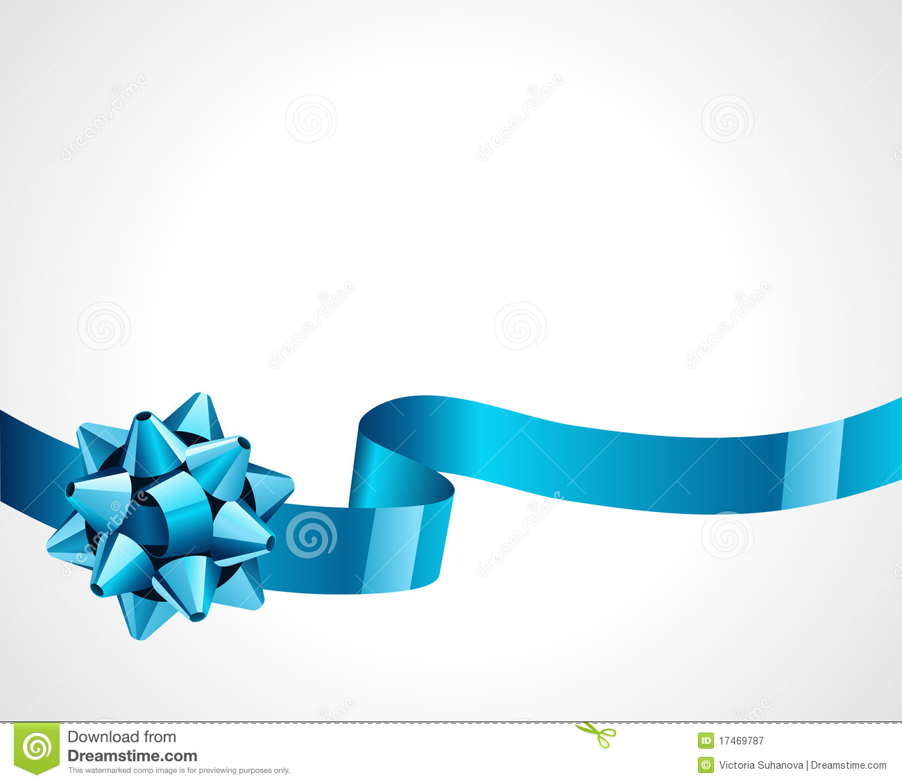 Gift blue bow