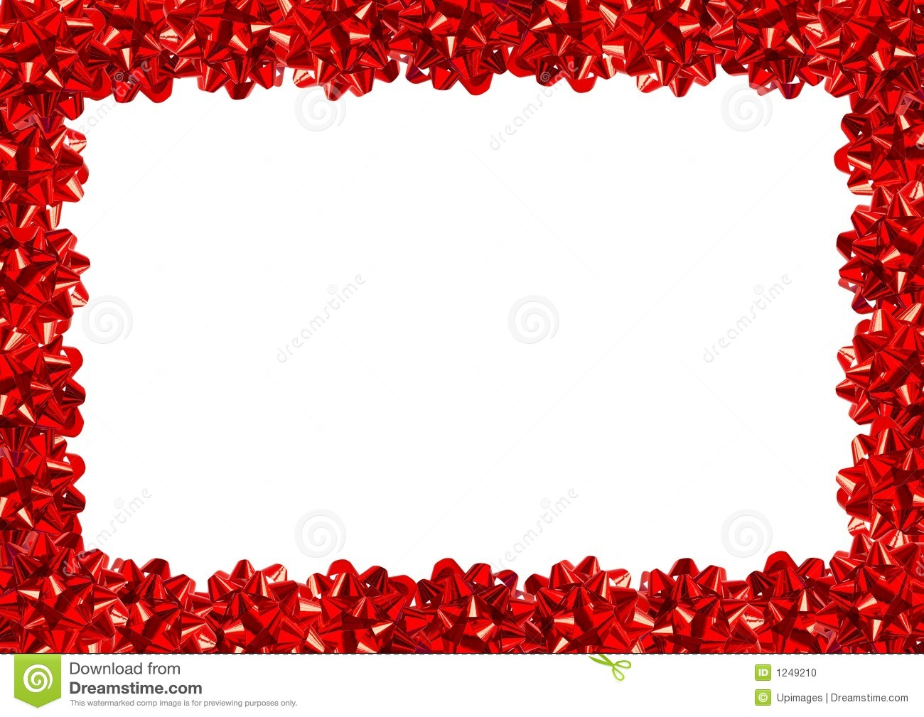 Gift bows border stock photo image of decorate