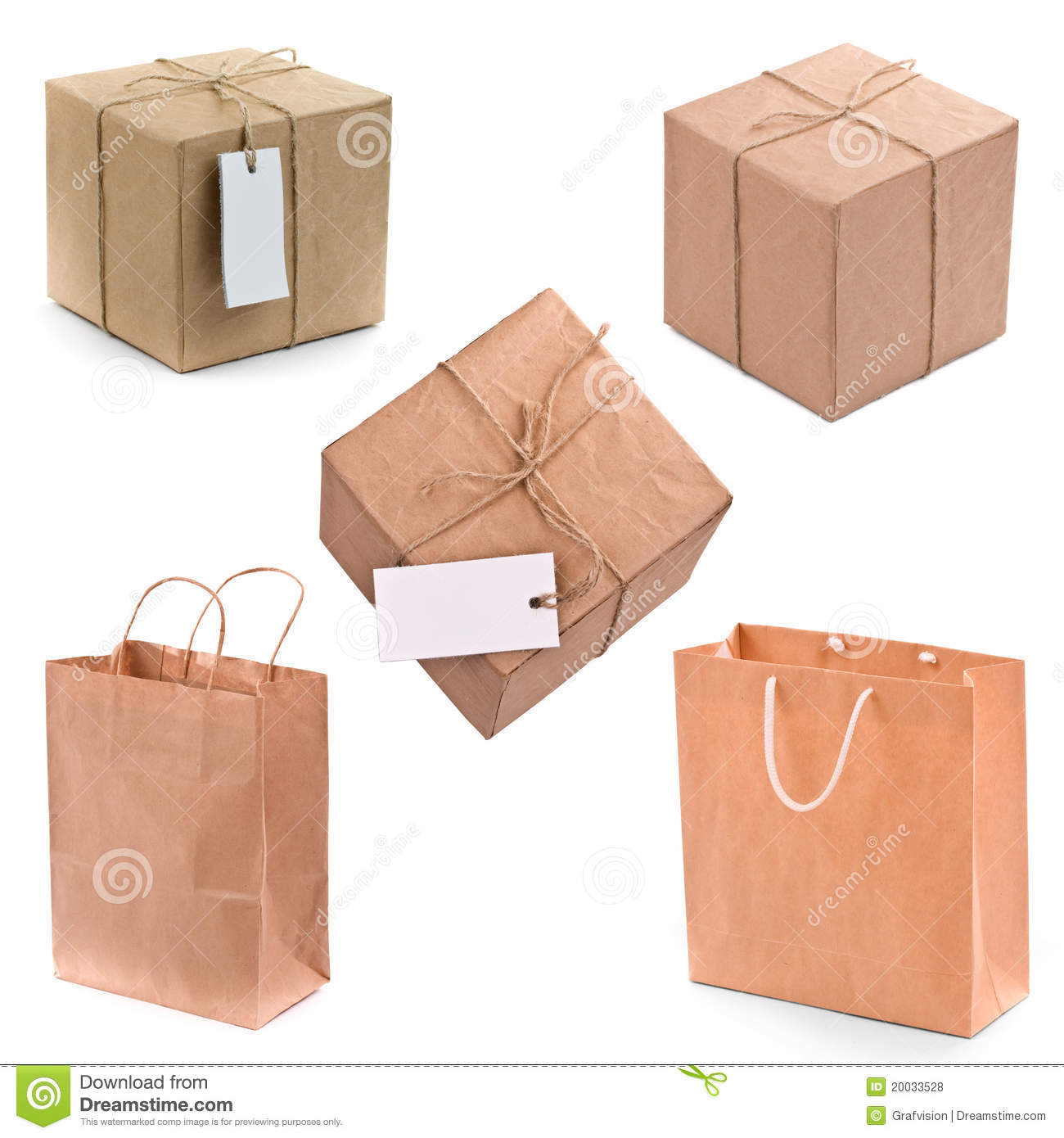 Gift box and bags