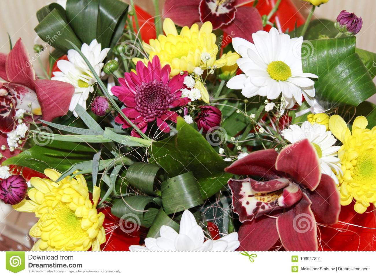 Gift box with beautiful orchid flowers stock image image of gift box with beautiful orchid flowers izmirmasajfo