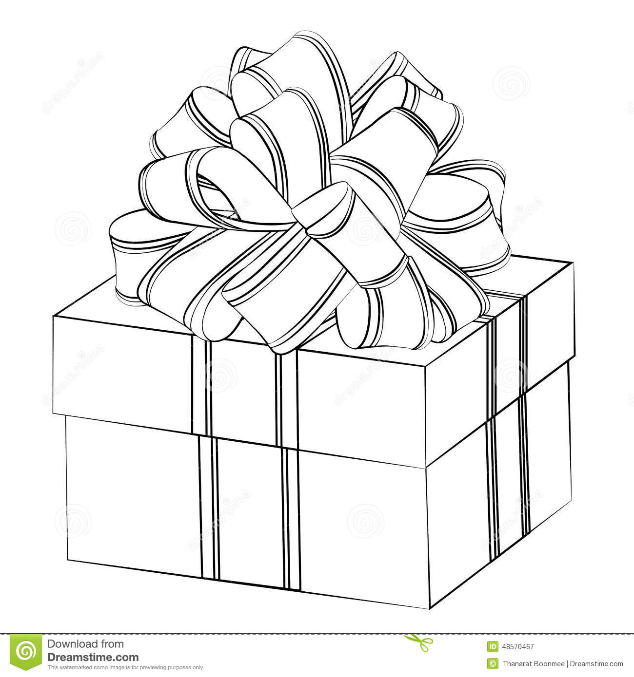 Line Art Box Design : Gift box stock vector image