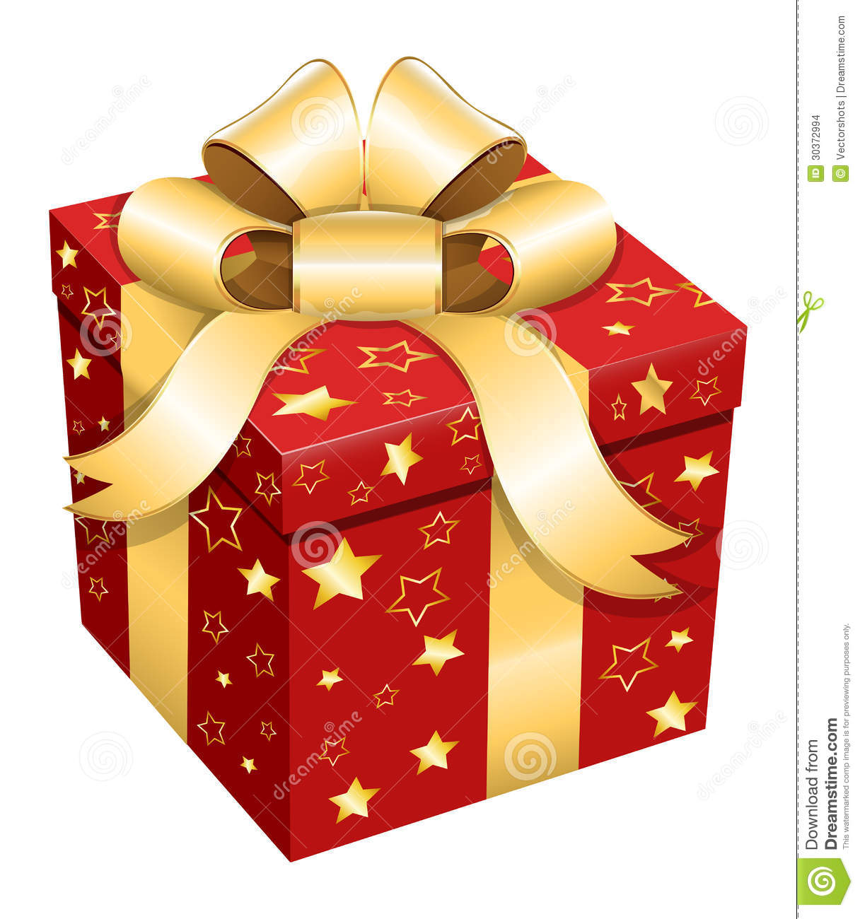 Gift Box Christmas Vector Illustration Stock Vector Illustration