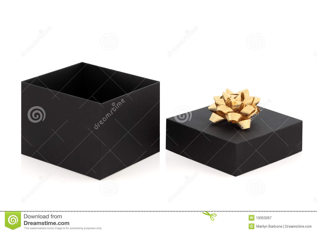 gift box and gold bow royalty free stock photography. Black Bedroom Furniture Sets. Home Design Ideas