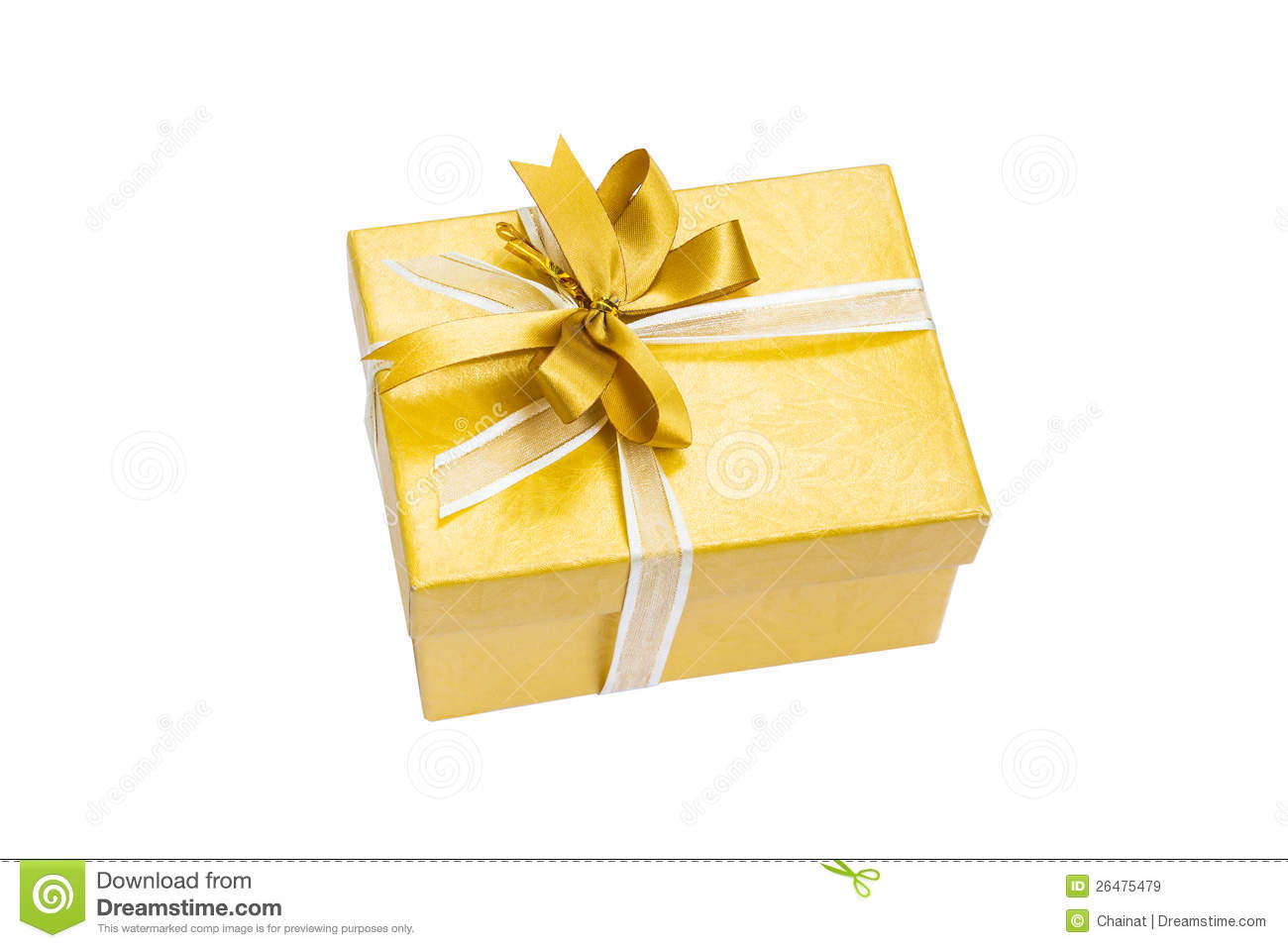 Gift box gold color stock image image of ribbon festive 26475479 gift box gold color negle Gallery