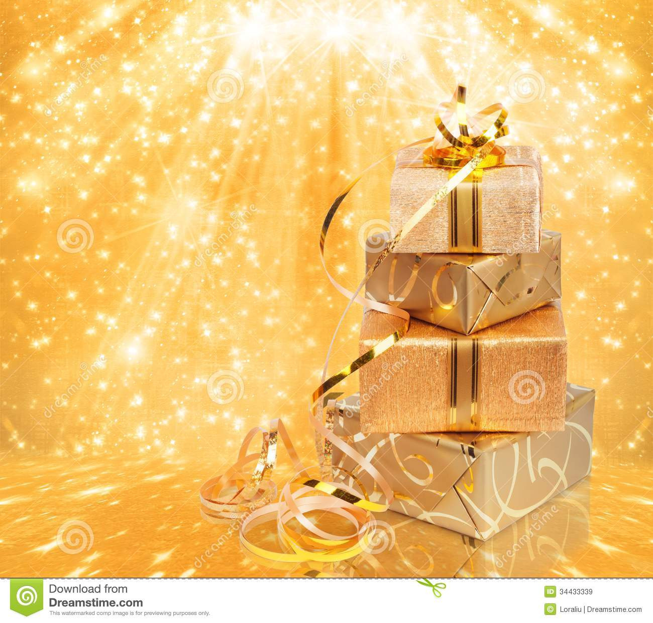 Gold wrapping paper texture