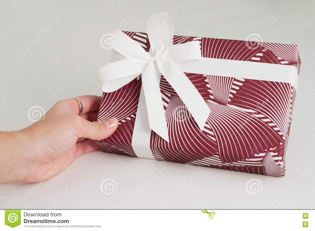 Gift Box Hand Craft Wrap Manual Directions Finished Stock