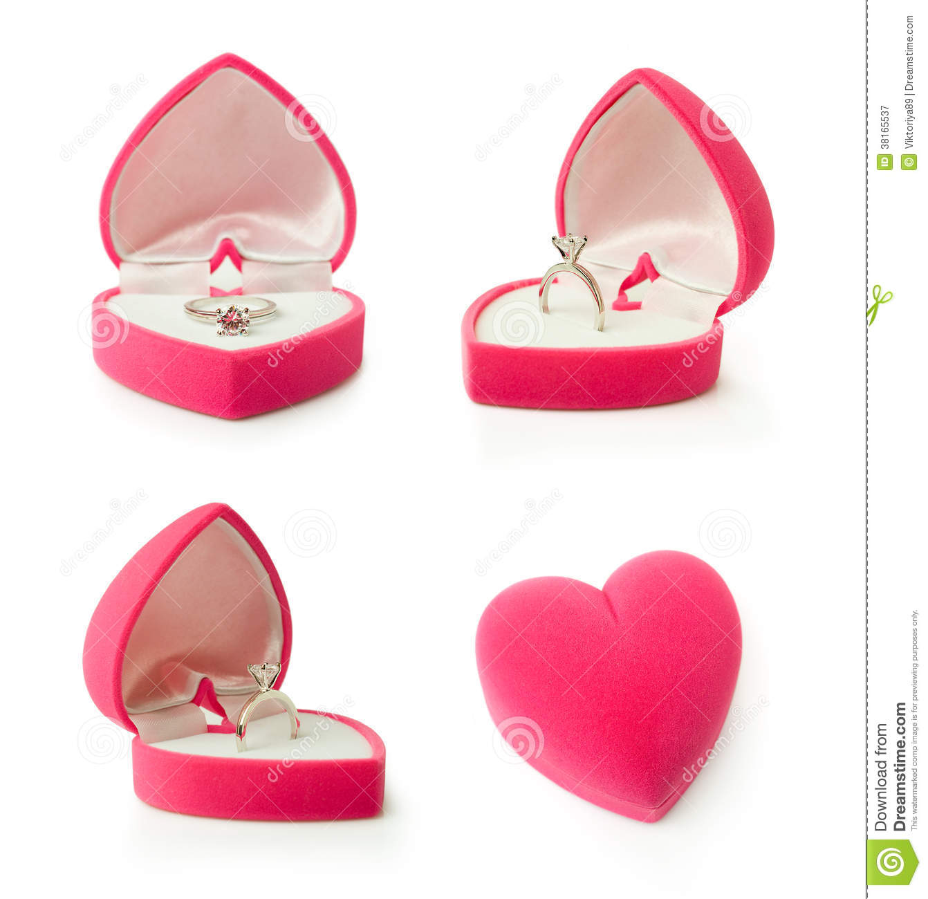 Gift box with heart shaped engagement ring royalty free for Heart shaped engagement ring box