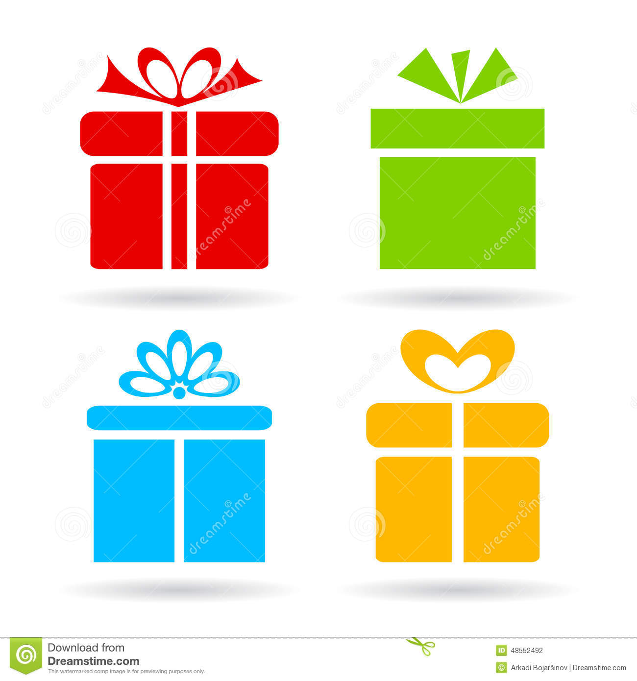 Gift Box Icon Stock Vector - Image: 48552492