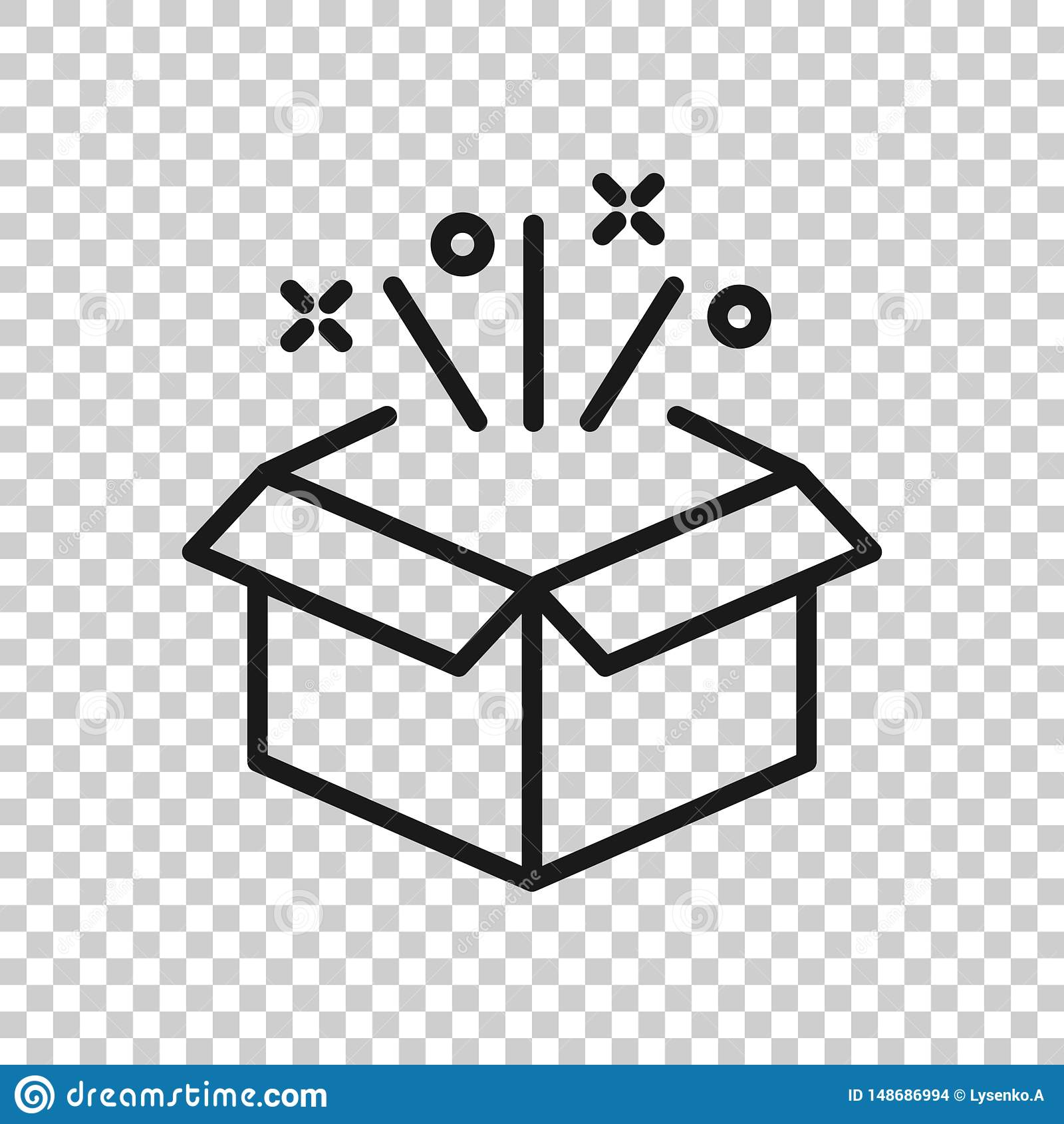 Gift Box Icon In Transparent Style Magic Case Vector Illustration On Isolated Background Present Business Concept Stock Vector Illustration Of Gift Easter 148686994