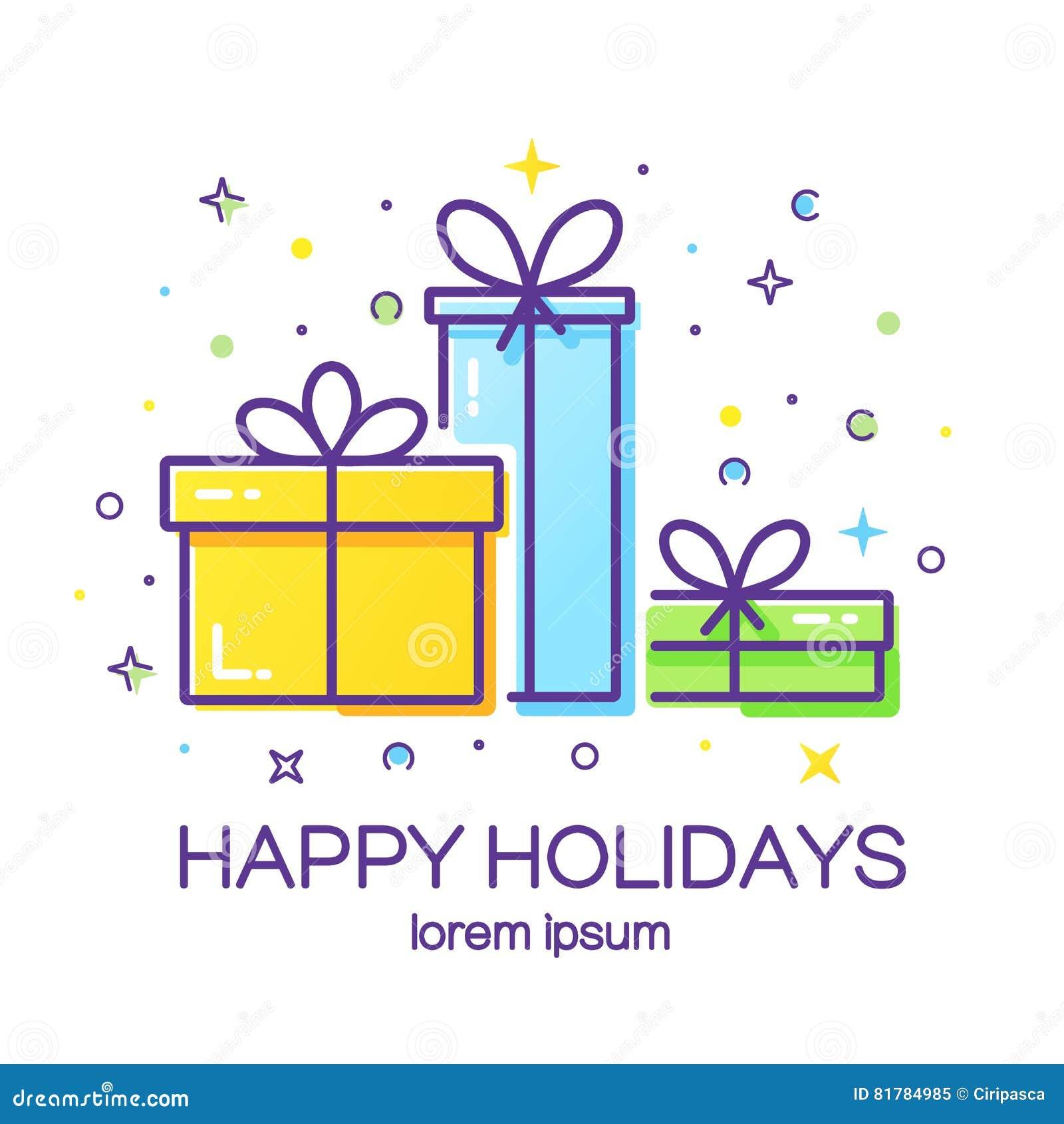 Gift Box Logo Stock Vector Illustration Of Happy Greeting 81784985