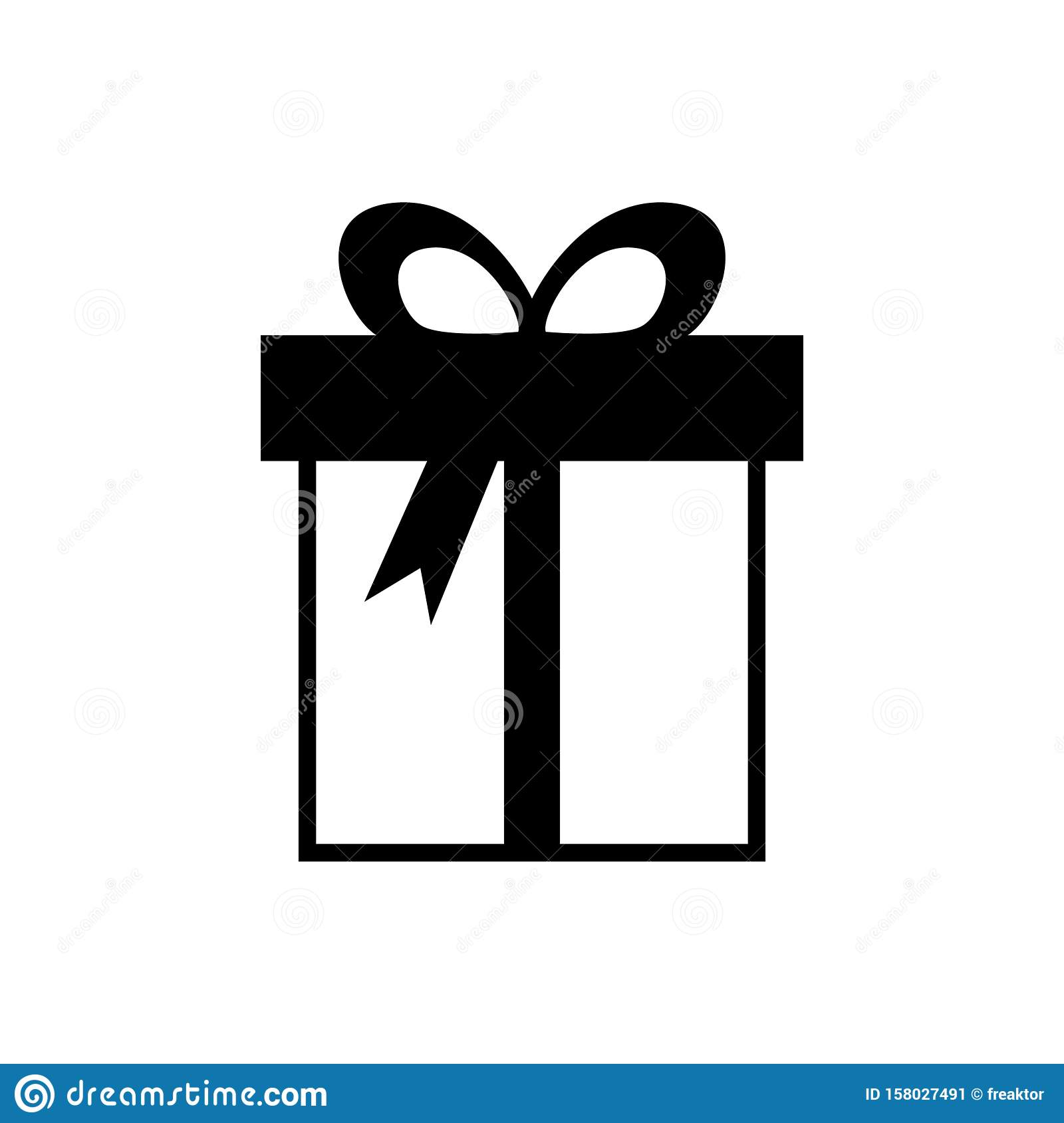 Gift Box Logo Vector With Ribbon And Celebration Element Stock Vector Illustration Of Package Yellow 158027491
