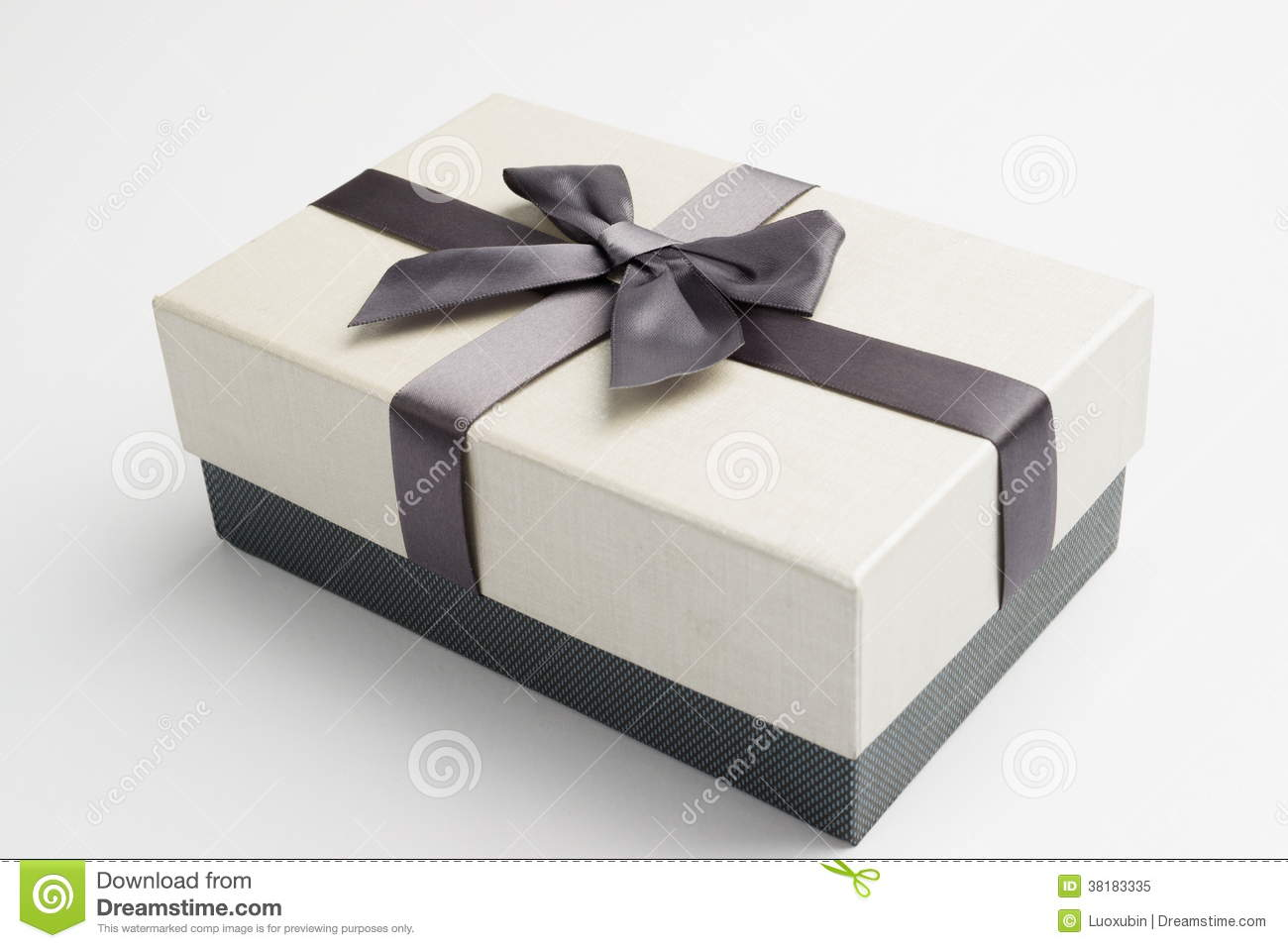 Gift box with nice ribbon stock image image of holiday 38183335 royalty free stock photo negle Image collections