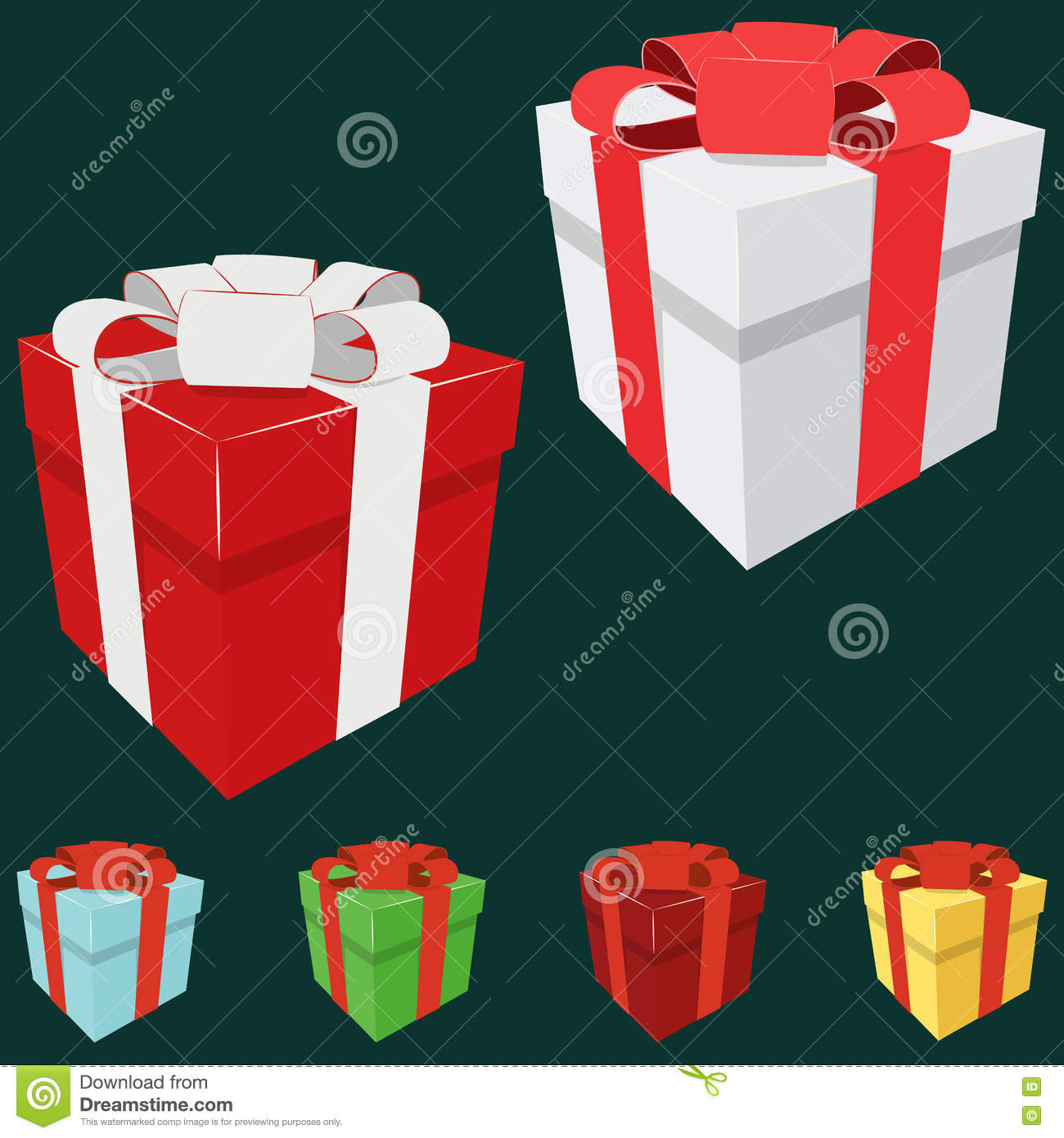gift box birthday christmas celebration new year 3d anniversary valentine love xmas illustration holiday icon shopping color party