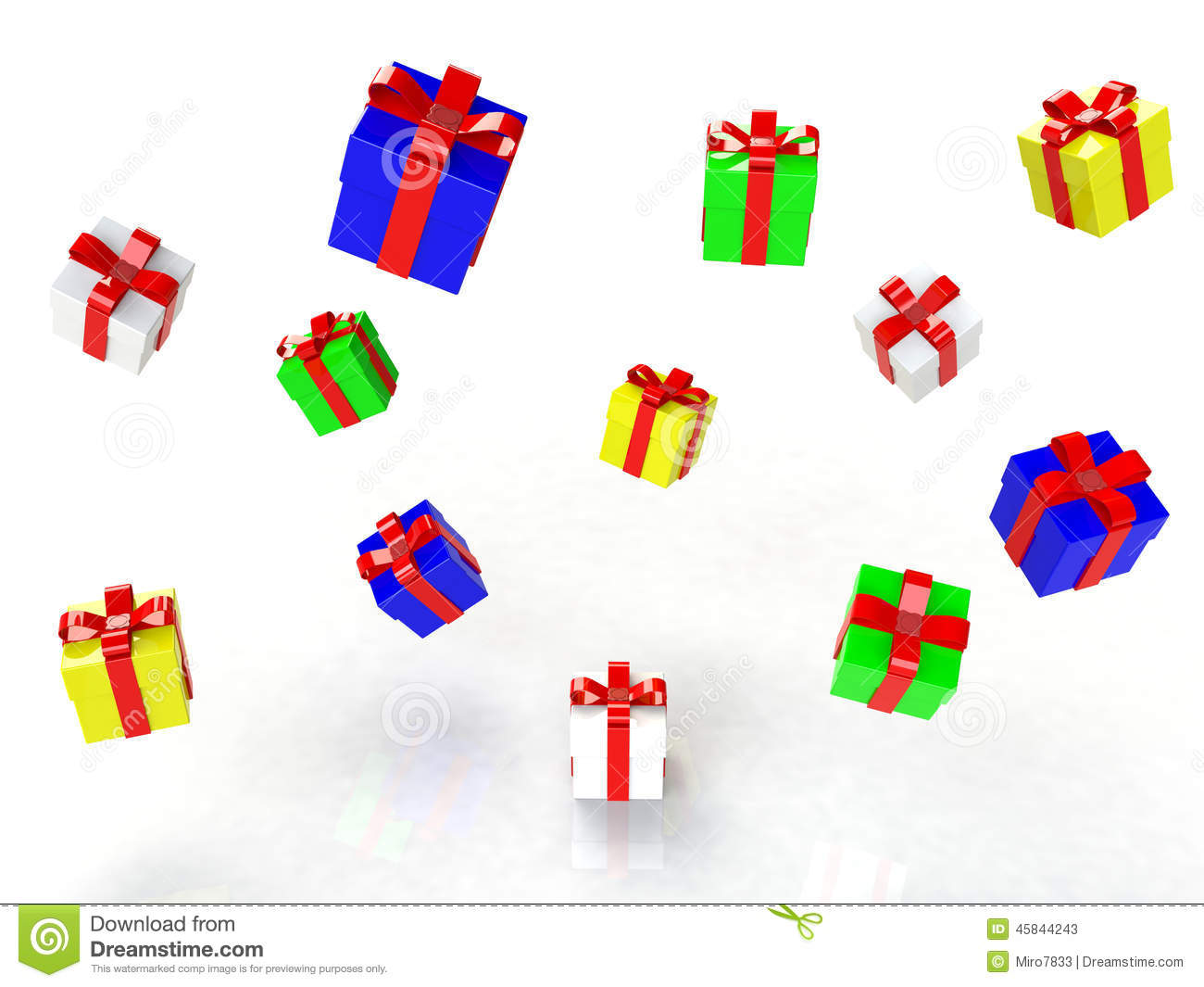 Gift box, with ribbon like a present. over white background