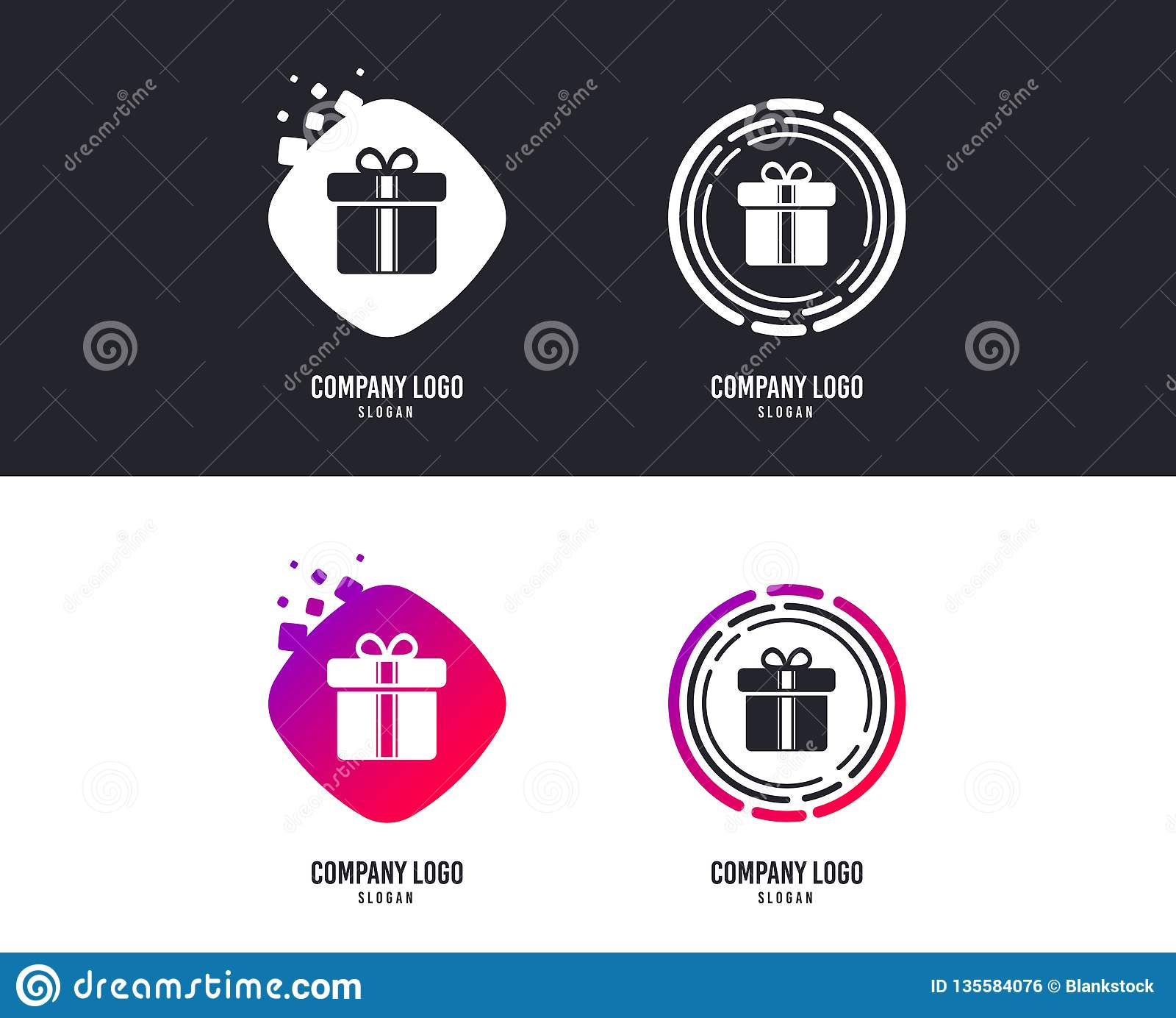 Gift Box Sign Icon Present Symbol Vector Stock Vector Illustration Of Holidays Quality 135584076