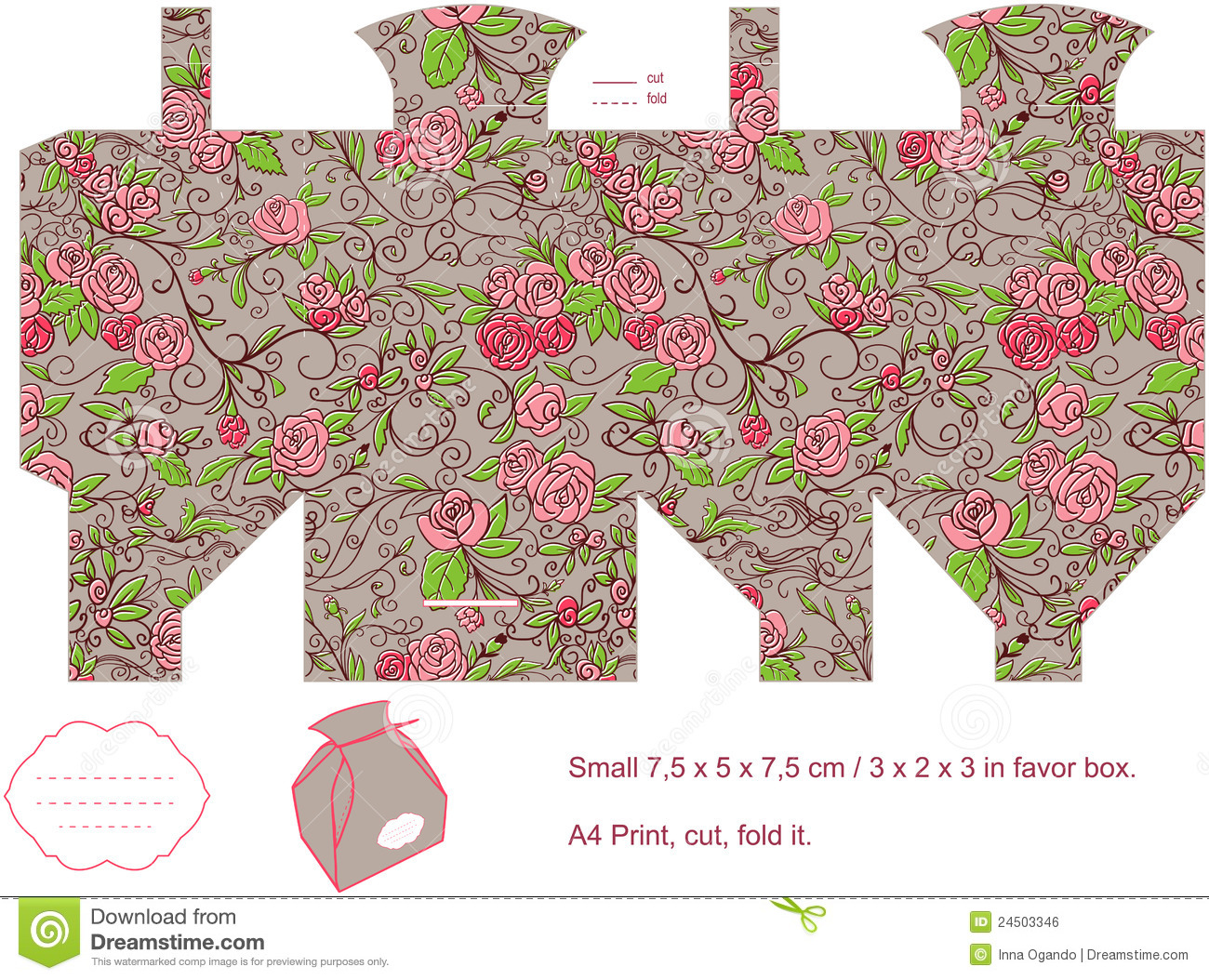 Gift box template stock vector illustration of floral 24503346 gift box template royalty free stock photo negle Choice Image