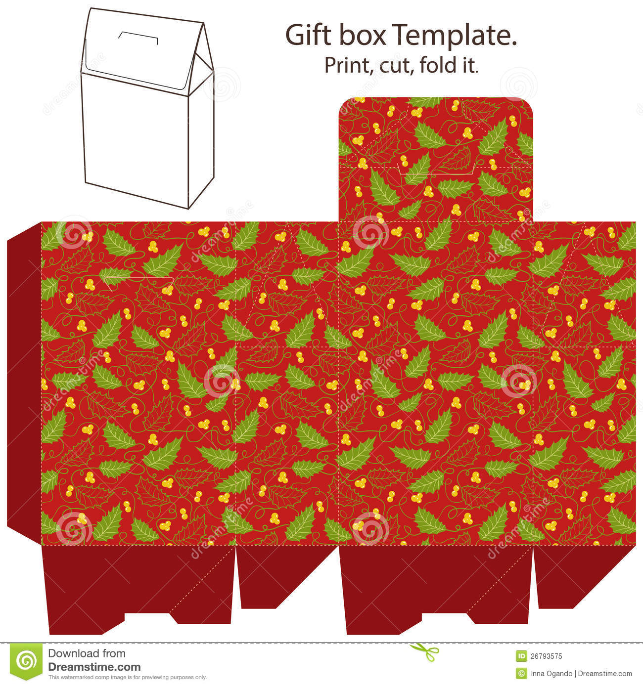 Gift Box Template Royalty Free Photo Image 26793575 – Gift Box Template Free