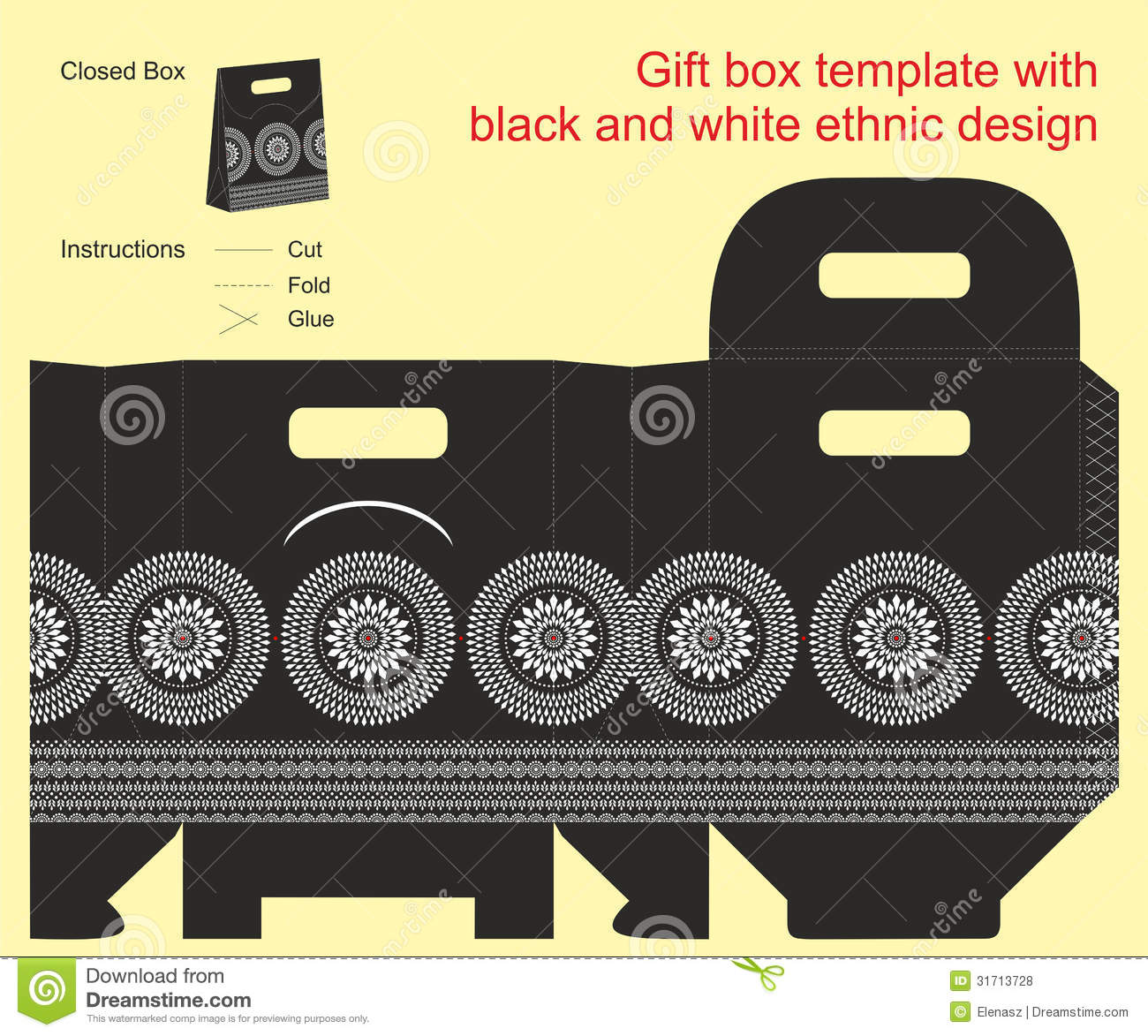 Gift Box Template  Gift Box Templates Free Download