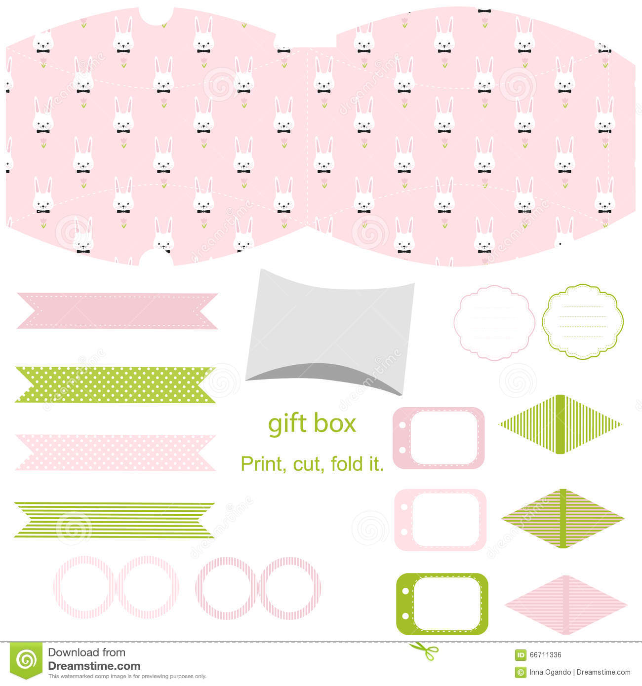 Gift box template easter party set stock vector illustration of gift box template easter party set royalty free stock image negle Gallery